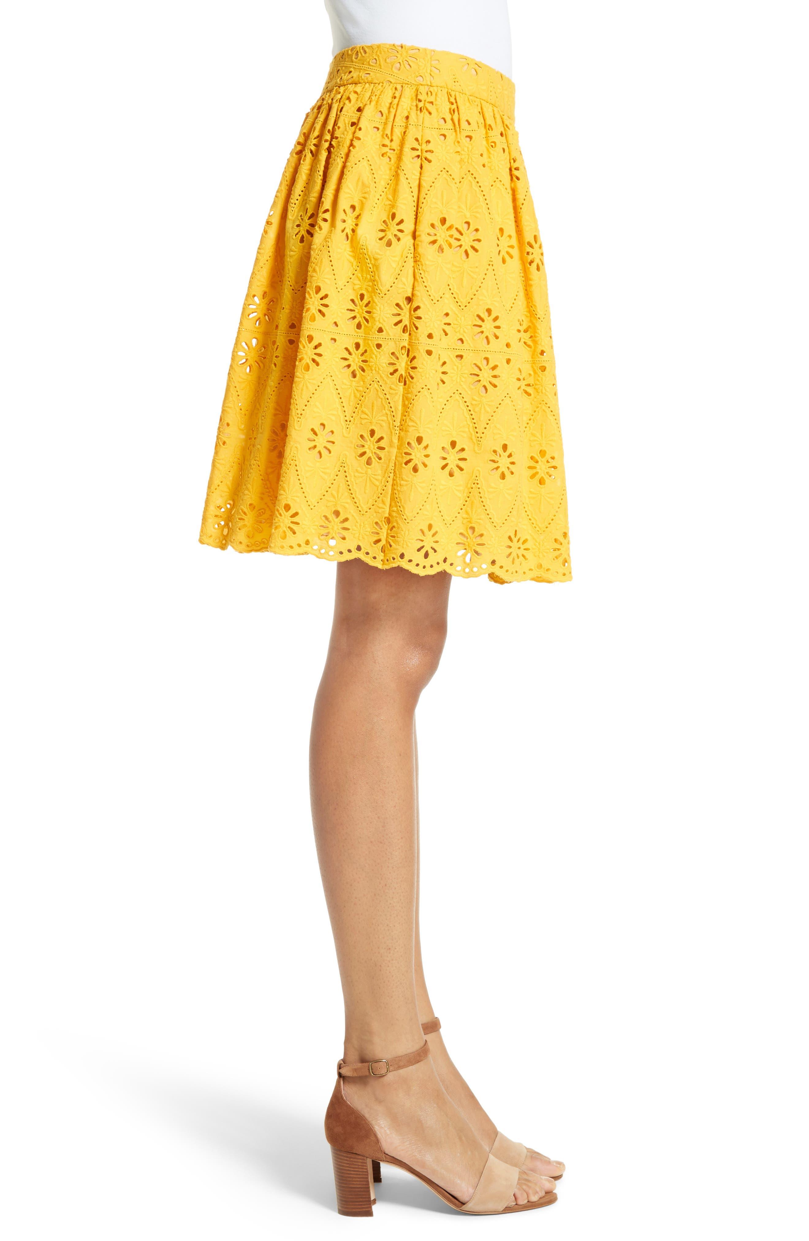 Alternate Image 3  - kate spade new york eyelet embroidered skirt