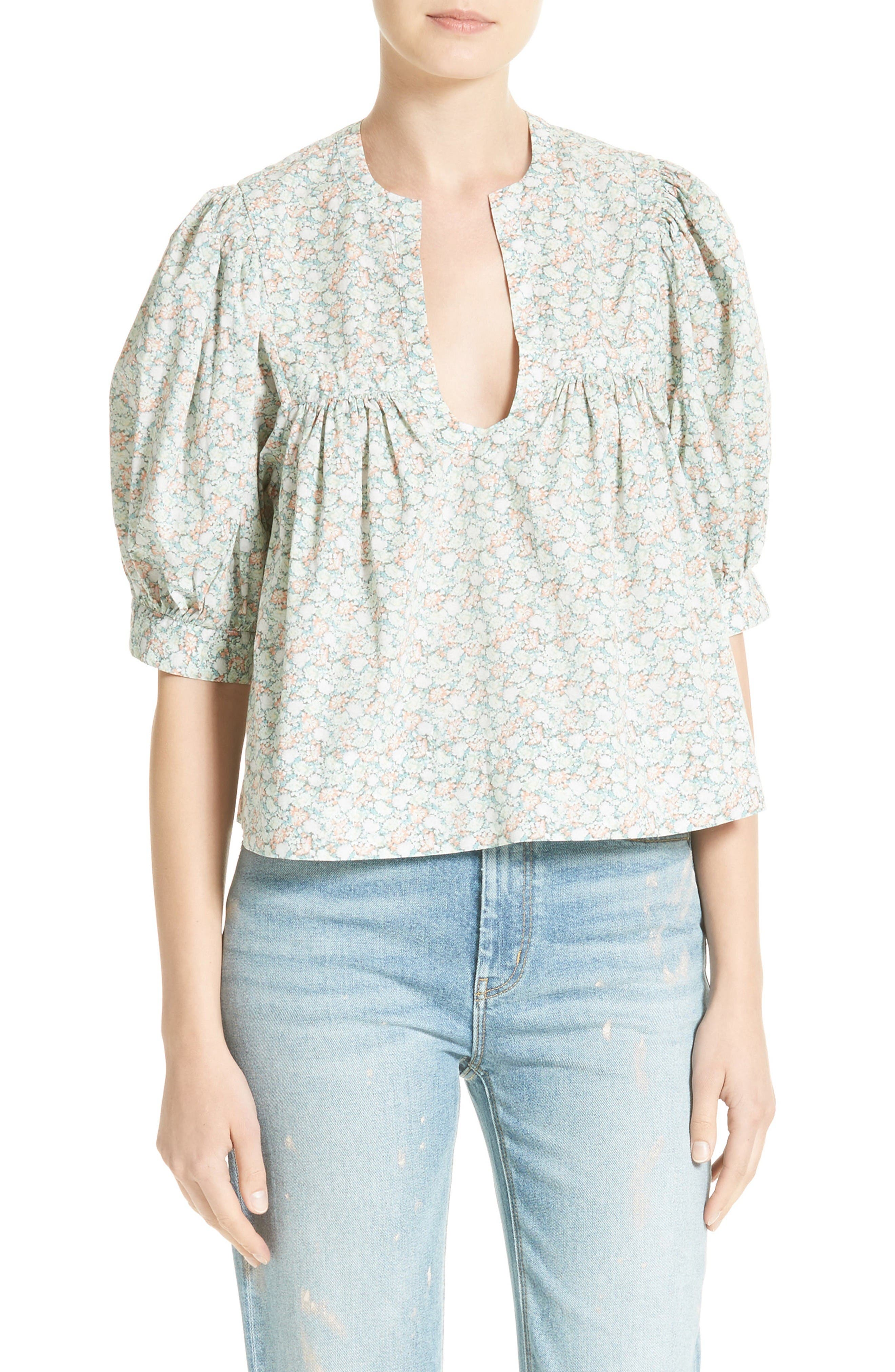 Alternate Image 1 Selected - La Vie Rebecca Taylor Adelie Crop Blouse