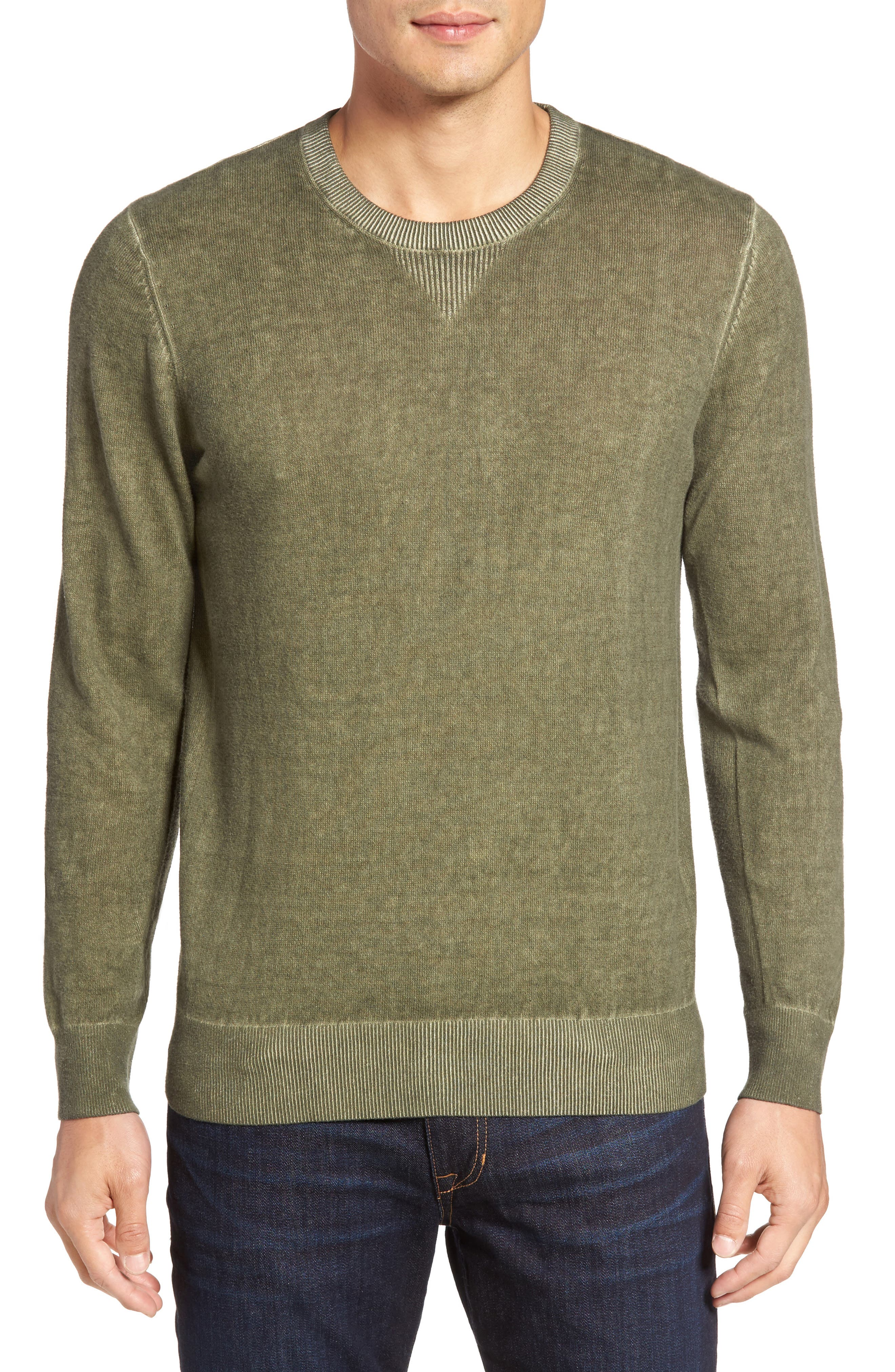 Mace Crewneck Sweater,                             Main thumbnail 1, color,                             Moonwash Caper Green