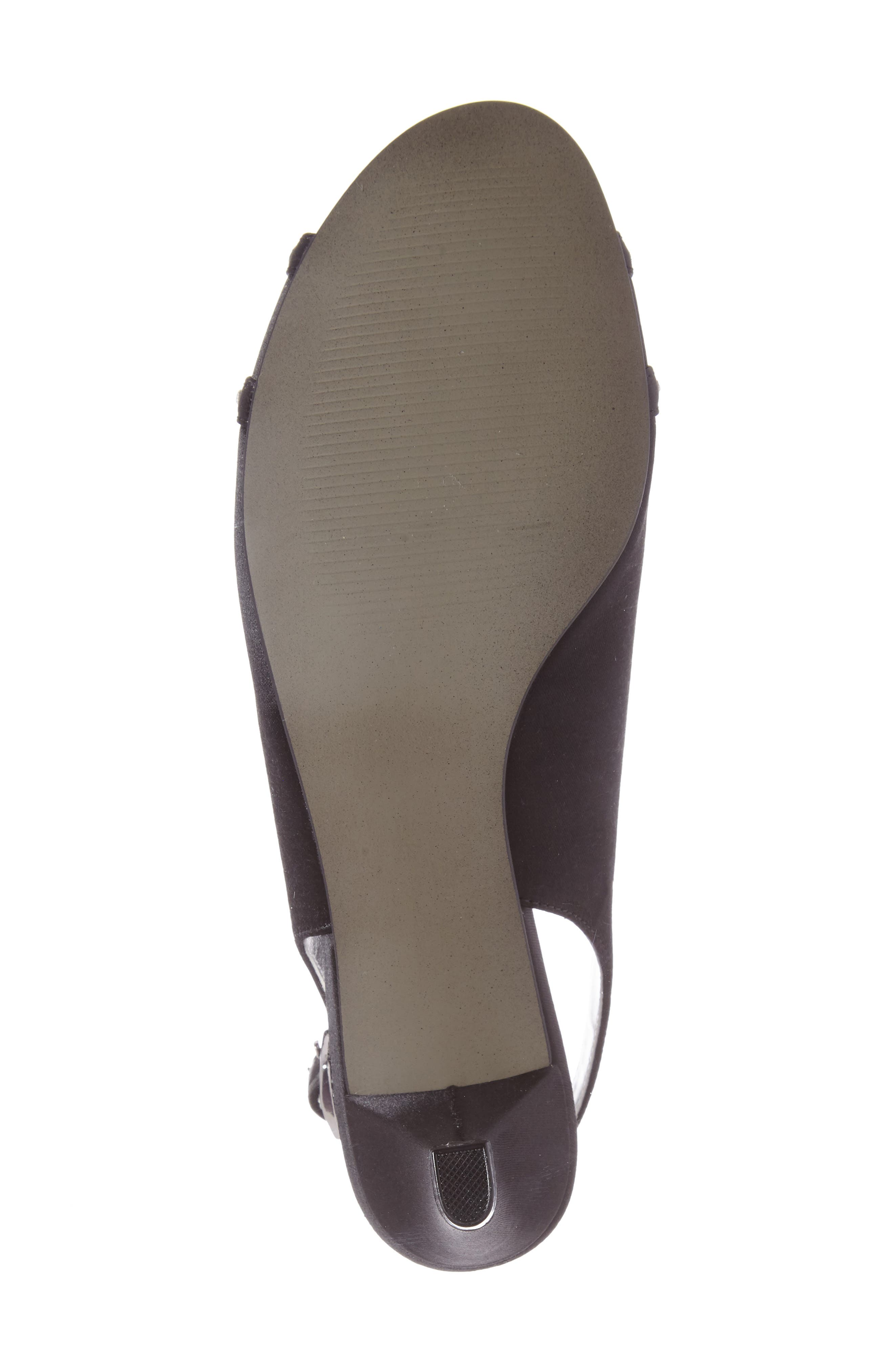 Regal Embellished Slingback Sandal,                             Alternate thumbnail 4, color,                             Black Fabric