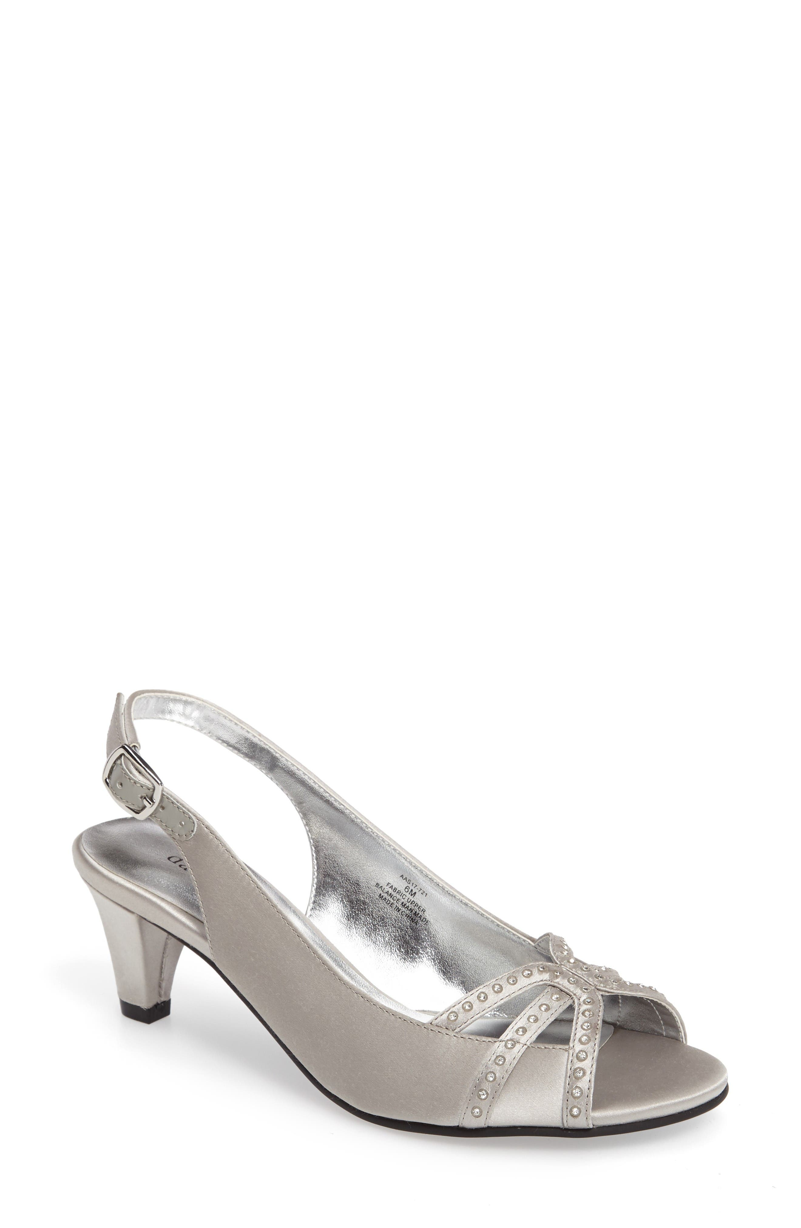 DAVID TATE Regal Embellished Slingback Sandal
