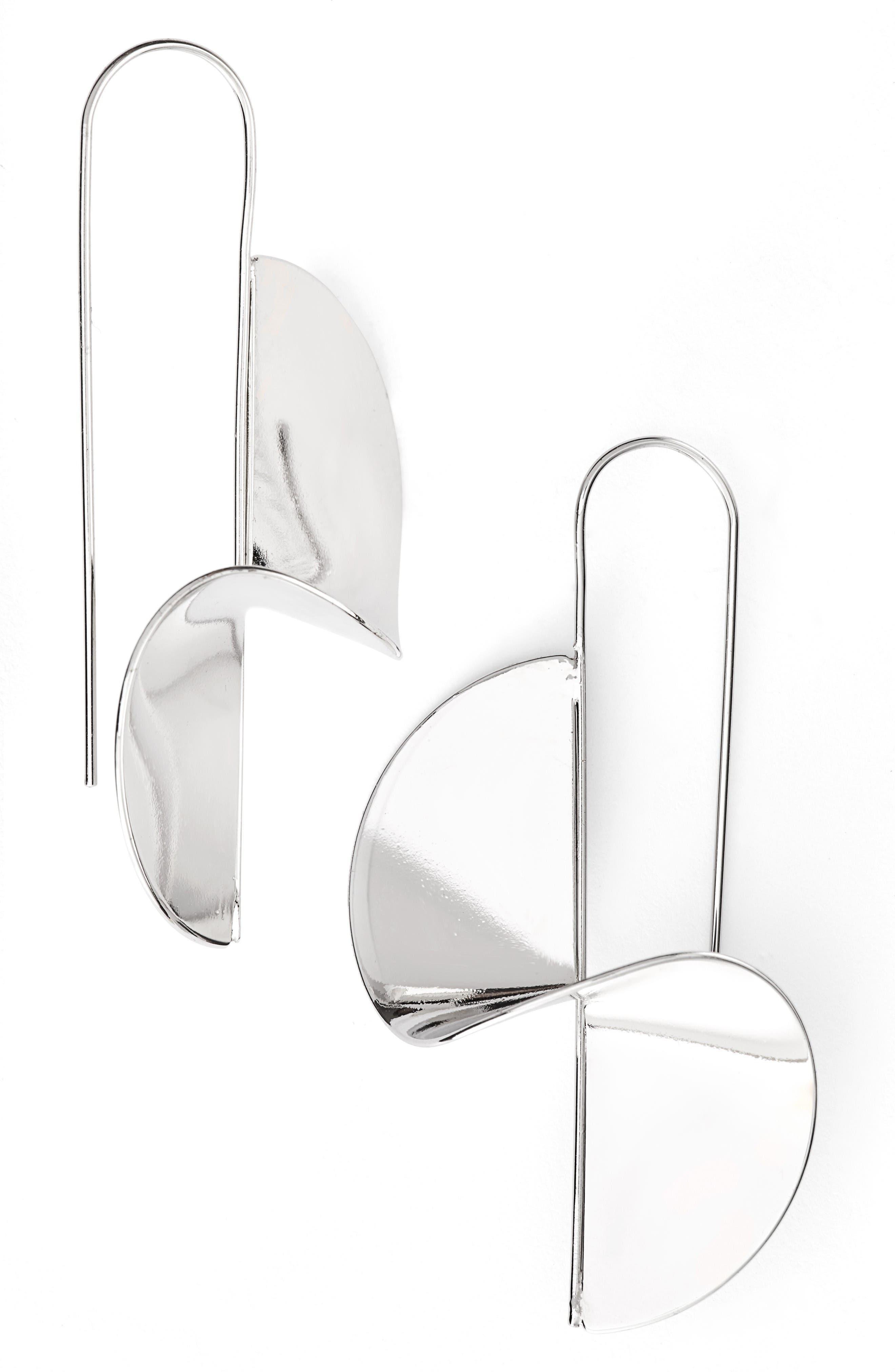 Spiral Threader Earrings,                             Main thumbnail 1, color,                             Silver