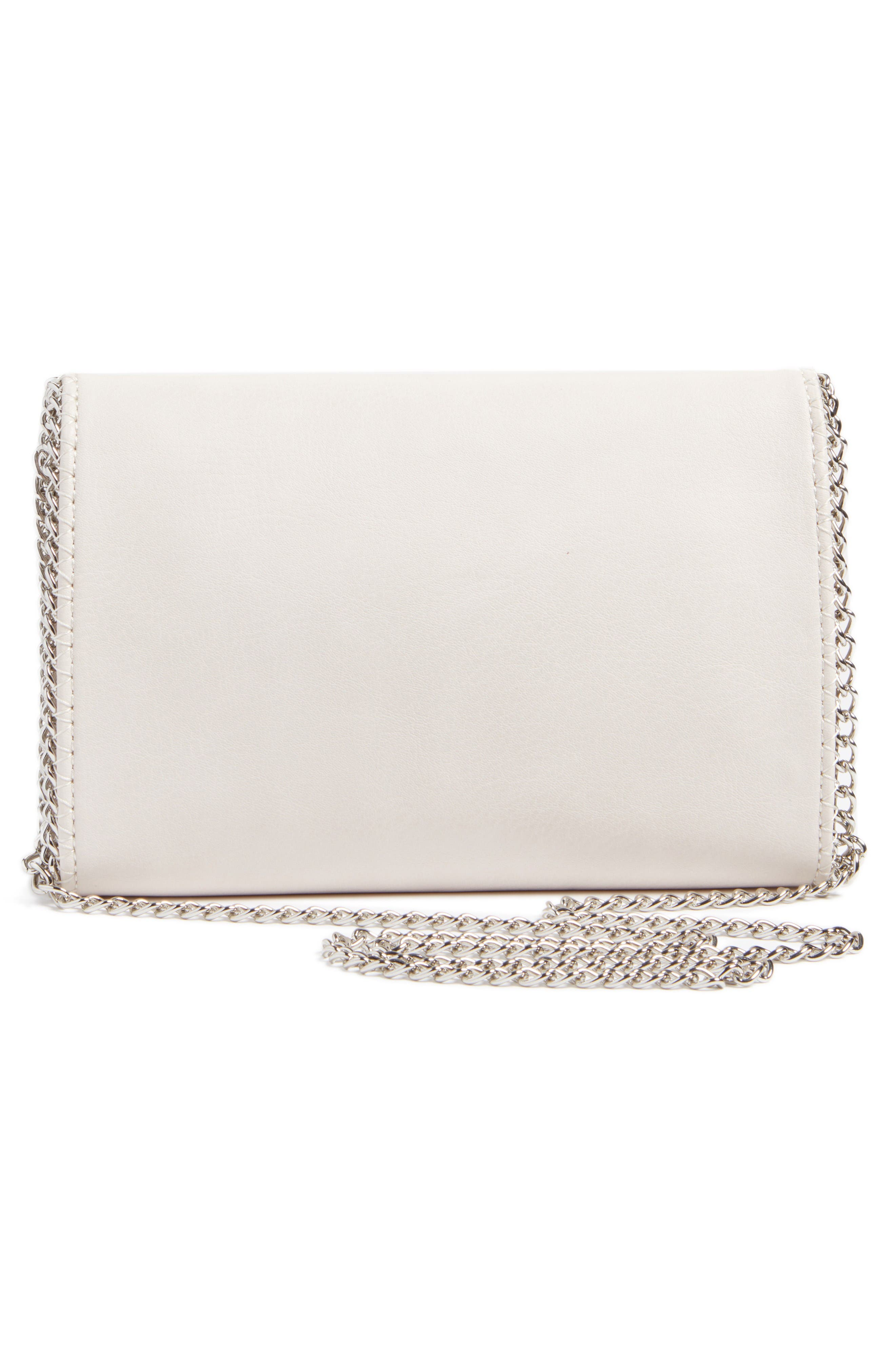 Alternate Image 3  - Chelsea28 Embellished Faux Leather Convertible Clutch