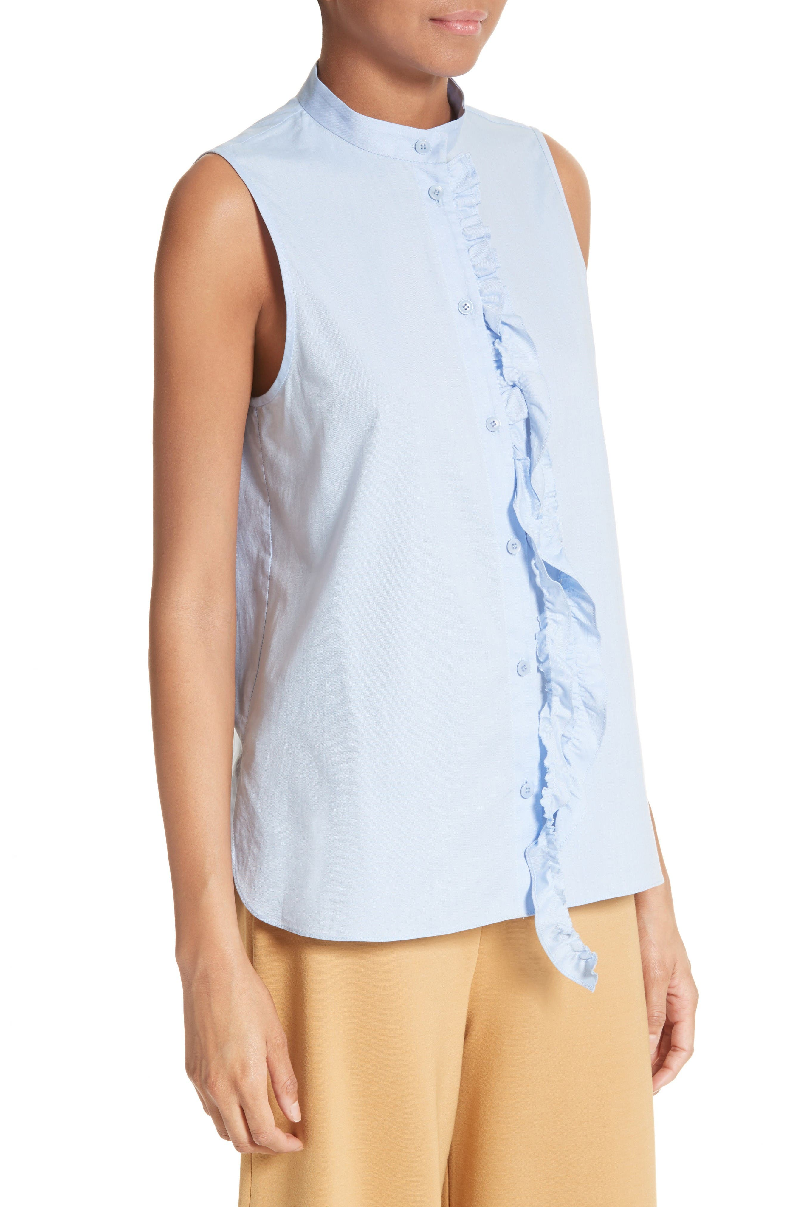Ruggle Oxford Cotton Shirt,                             Alternate thumbnail 5, color,                             Light Blue