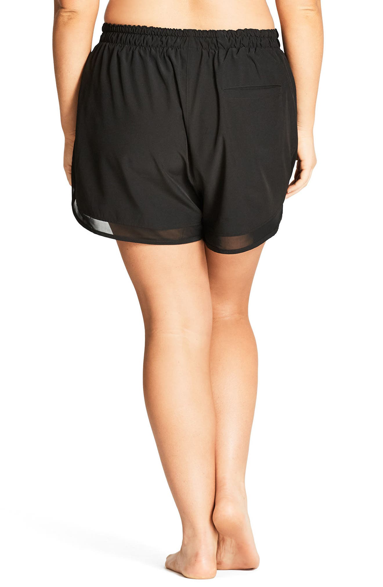 Alternate Image 2  - City Chic Mesh Boardie Shorts (Plus Size)