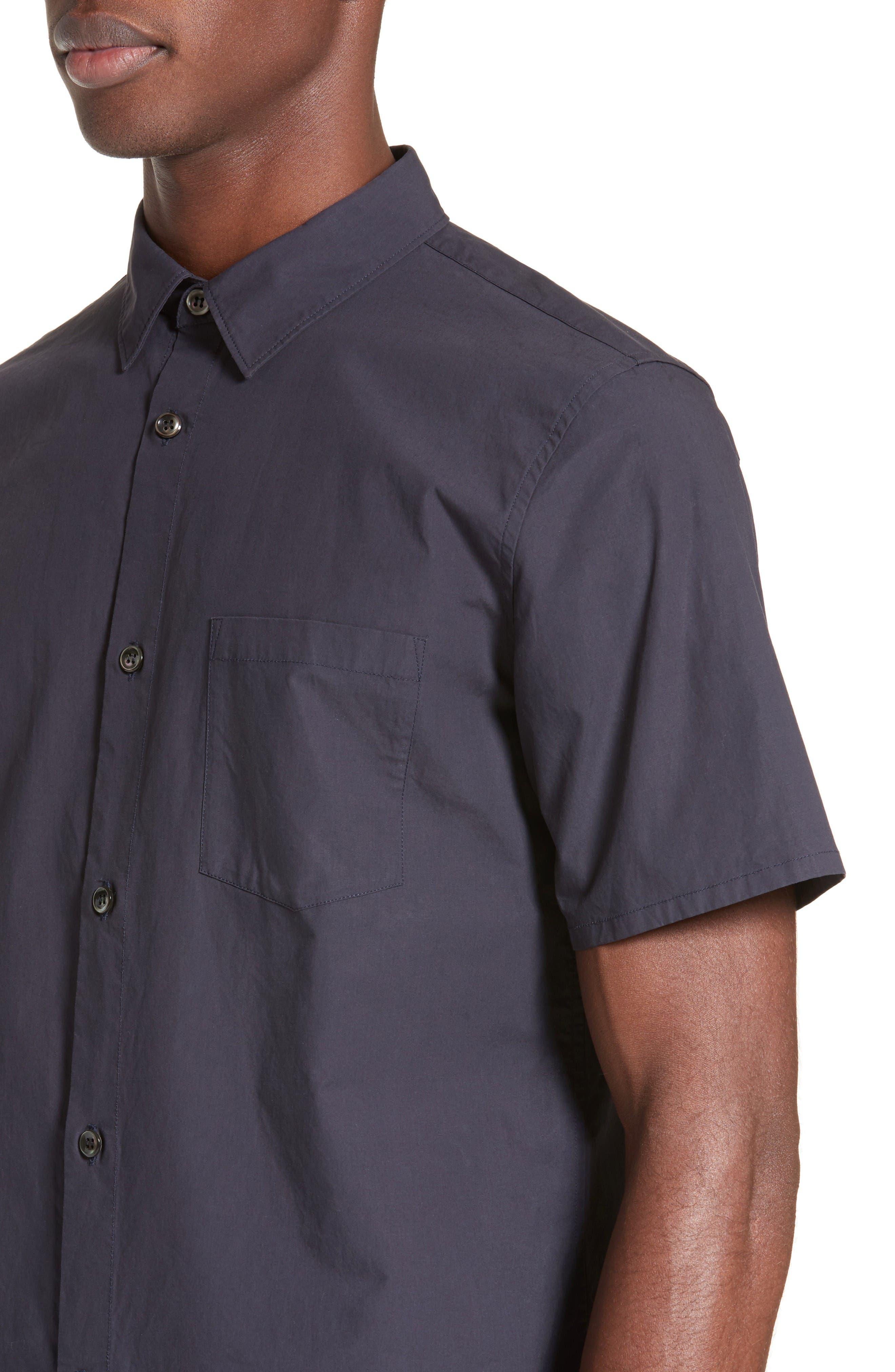 Andreas Extra Trim Fit Sport Shirt,                             Alternate thumbnail 4, color,                             Dark Navy