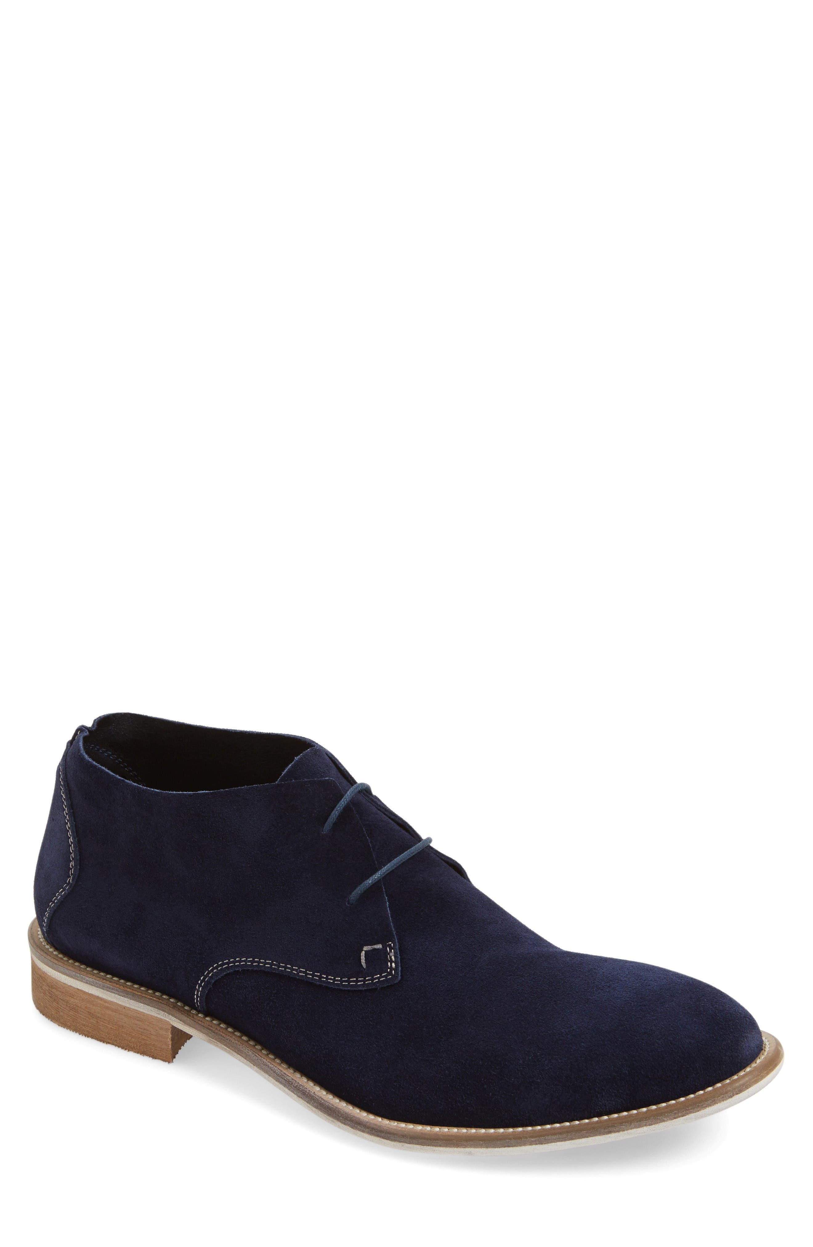 Take Comfort Chukka Boot,                         Main,                         color, Midnight Navy Suede