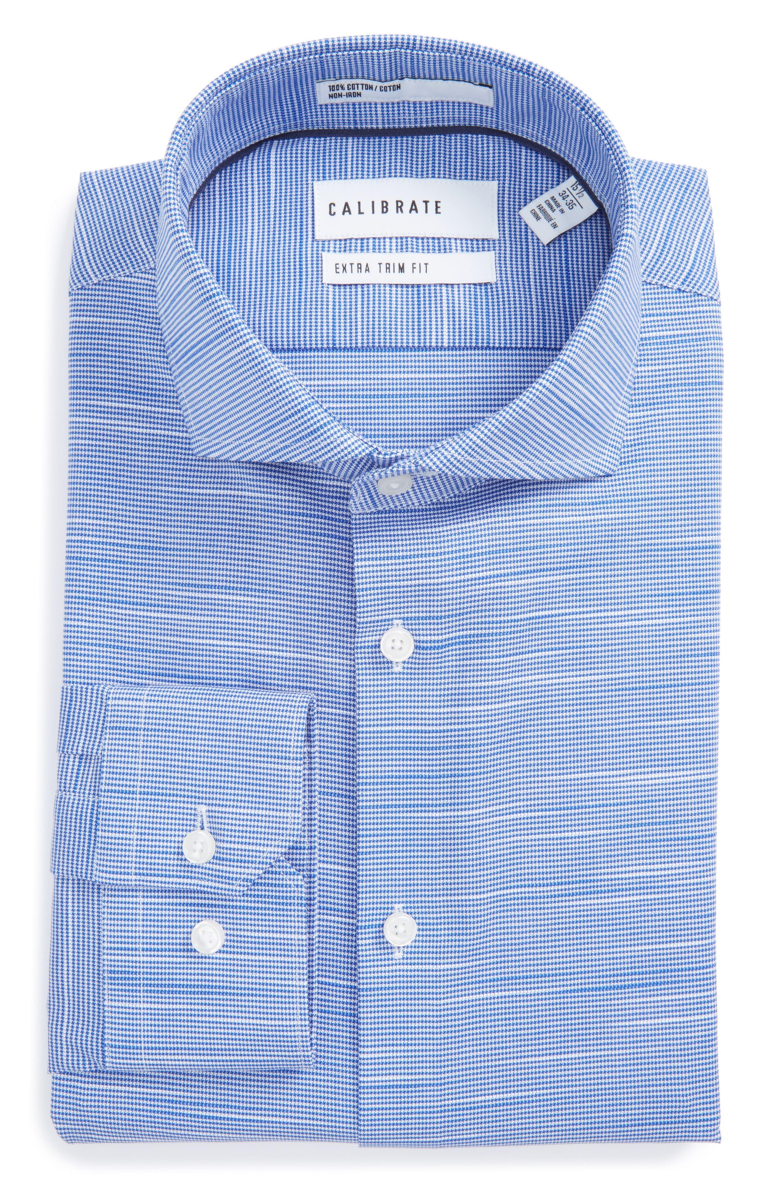 Calibrate Extra Trim Fit Non-Iron Dress Shirt