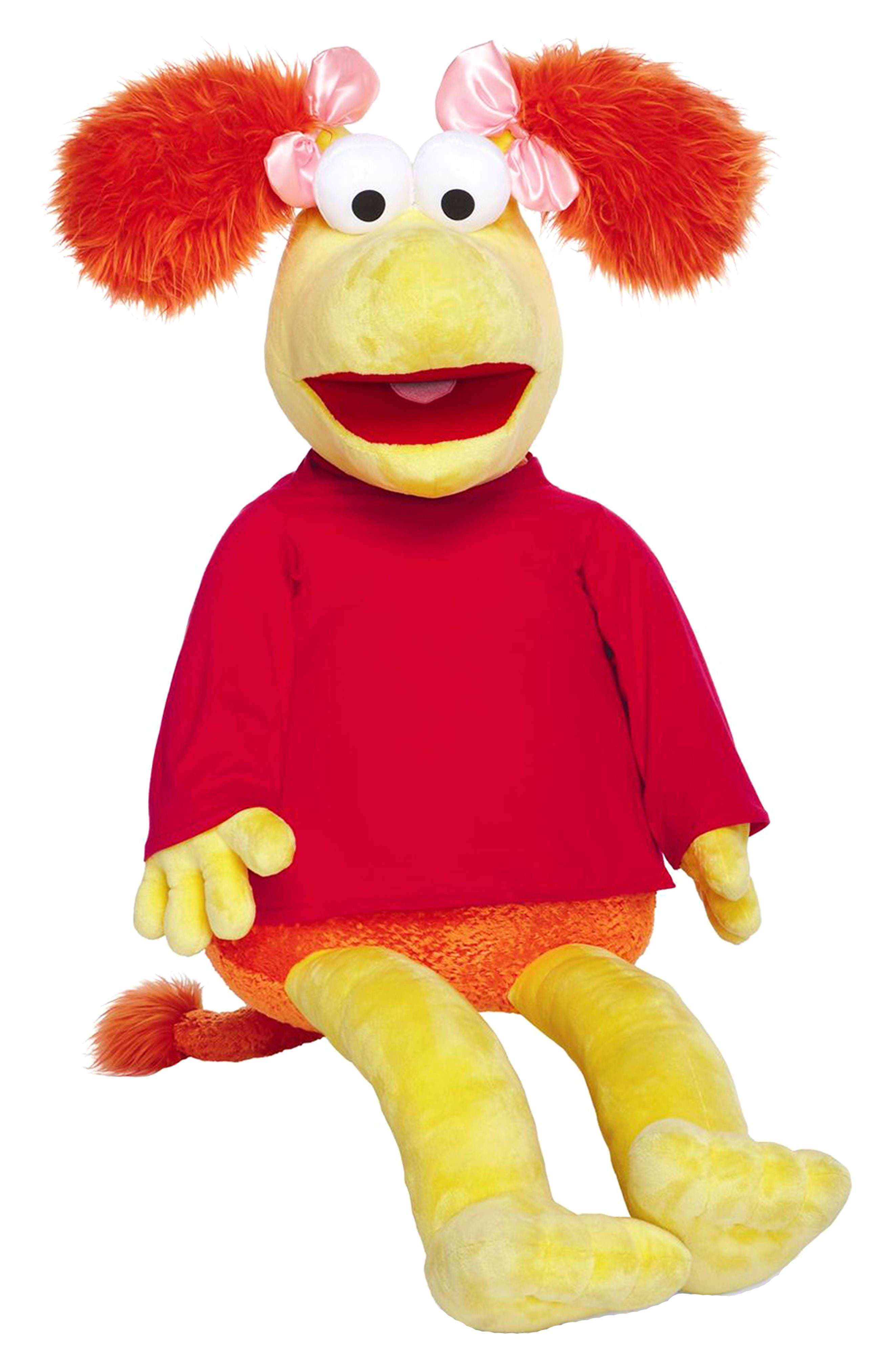 Fraggle Rock Jumbo Red Stuffed Animal,                             Main thumbnail 1, color,                             Red