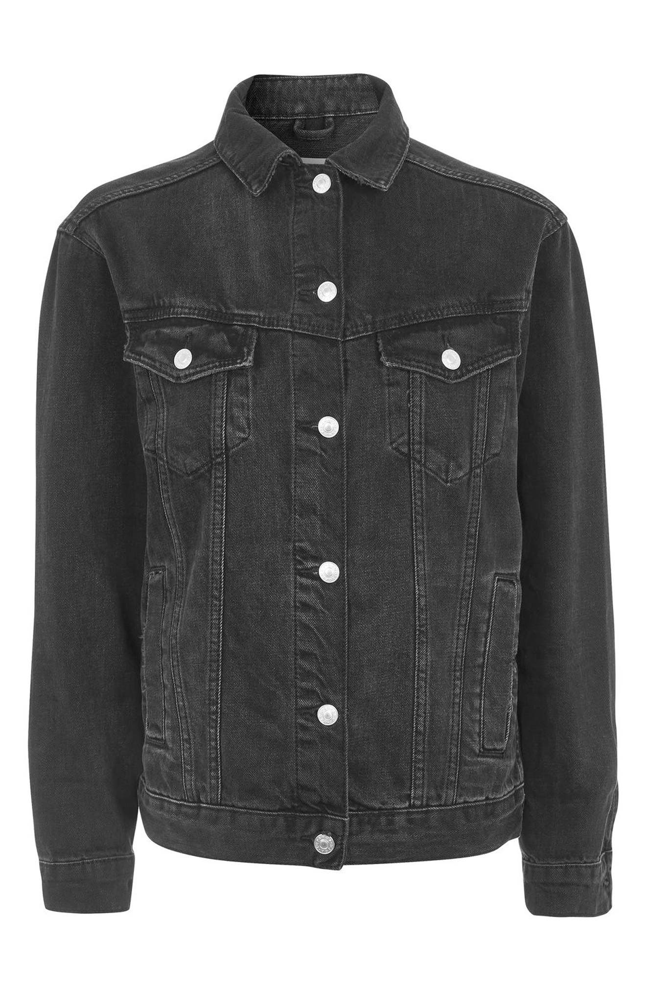 Alternate Image 5  - Topshop Oversize Denim Jacket