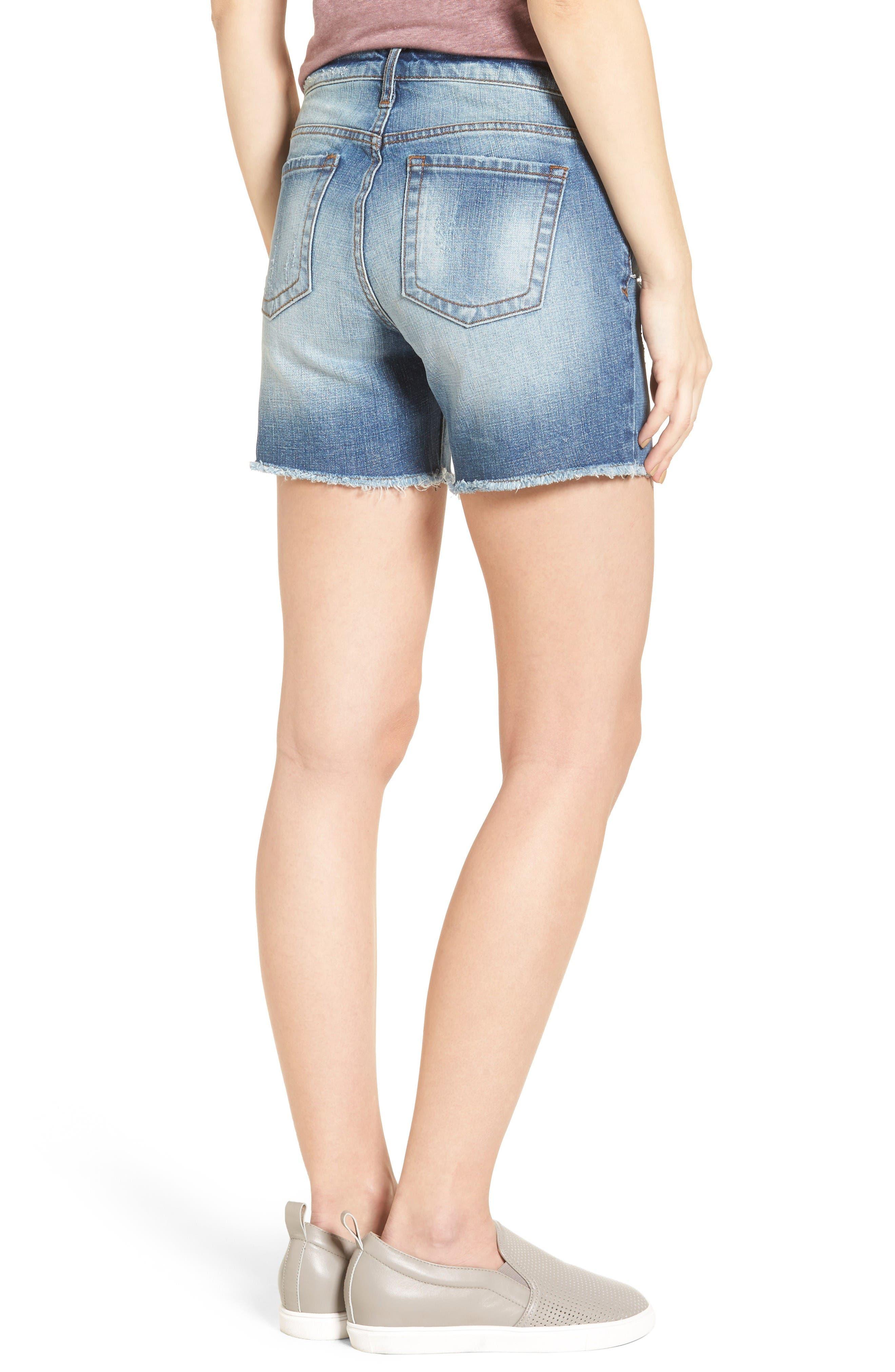 Alternate Image 2  - KUT from the Kloth Gidget Frayed Hem Denim Shorts