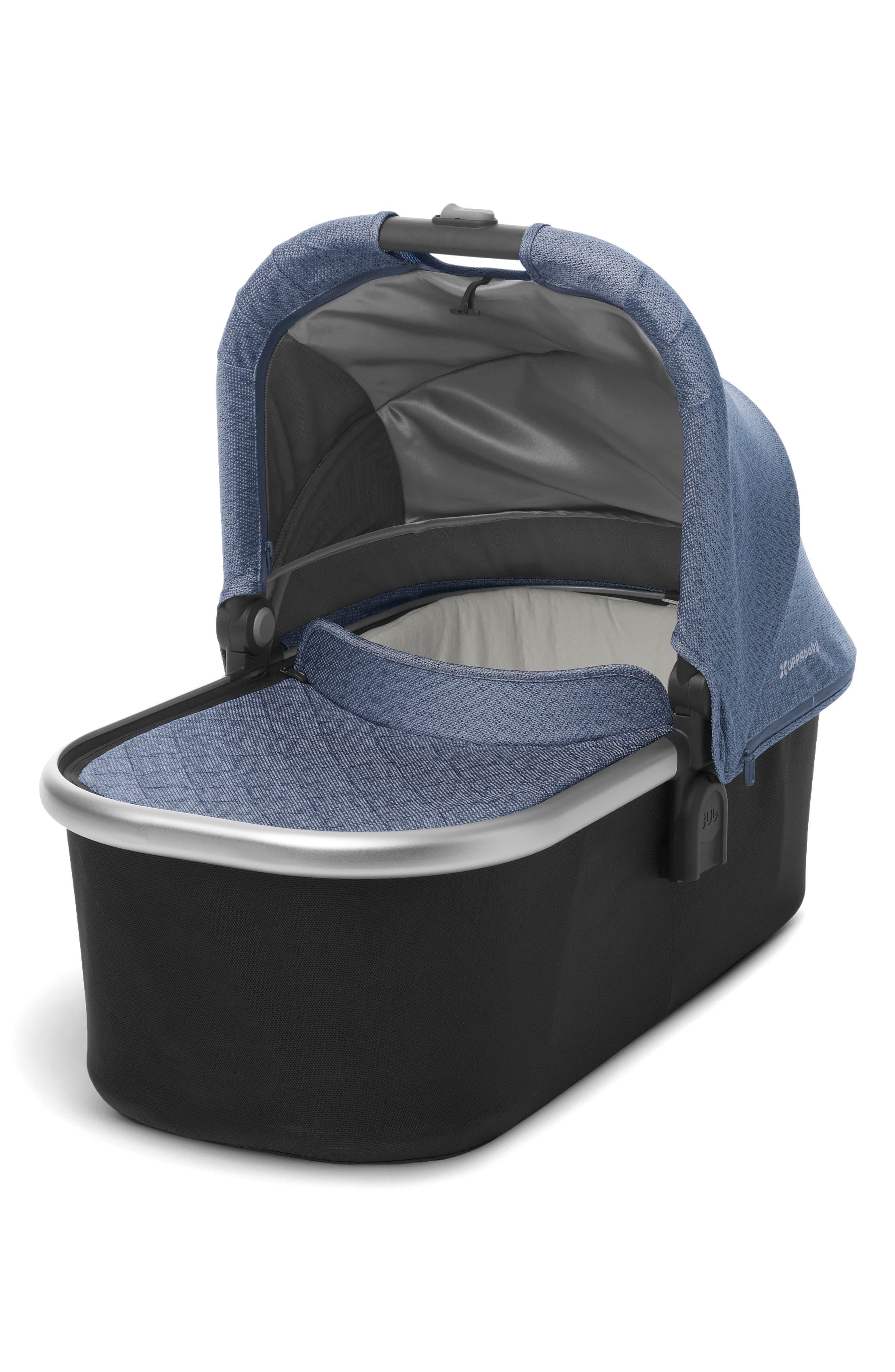 Bassinet for CRUZ or VISTA Strollers,                         Main,                         color, Blue Marl/ Silver