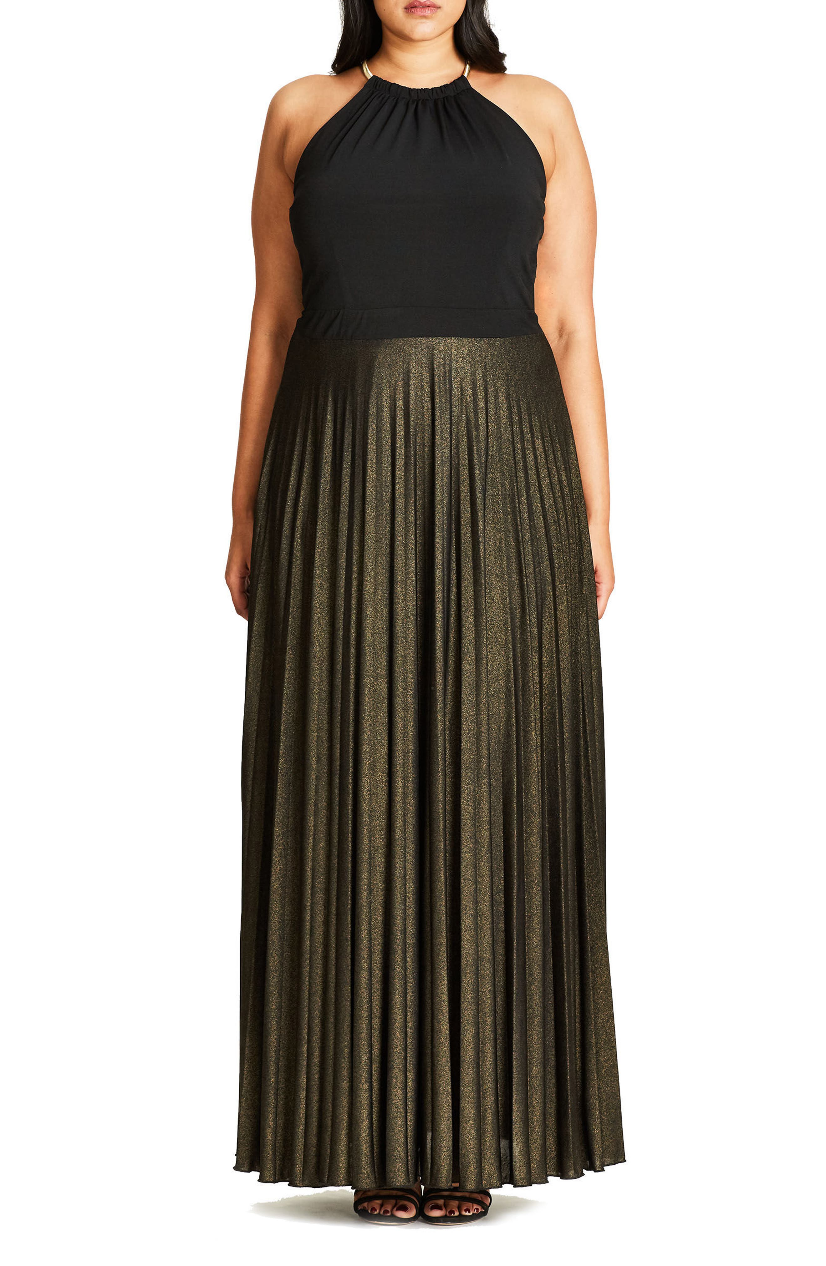 City Chic Colorblock Maxi Dress (Plus Size)