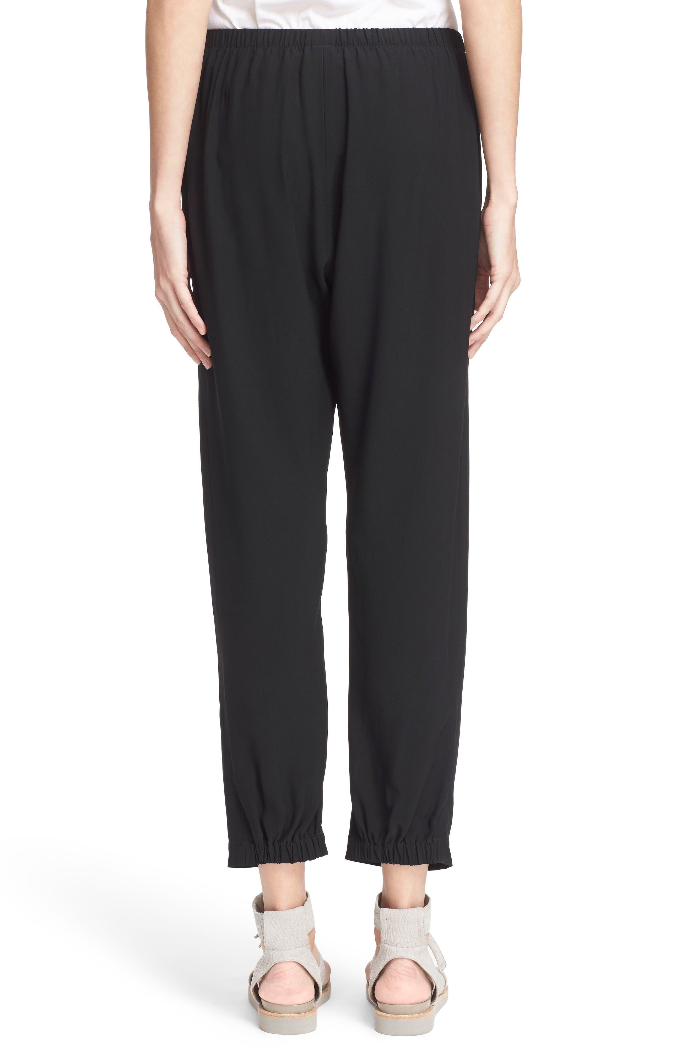 Gabi Drape Trousers,                             Alternate thumbnail 2, color,                             Black