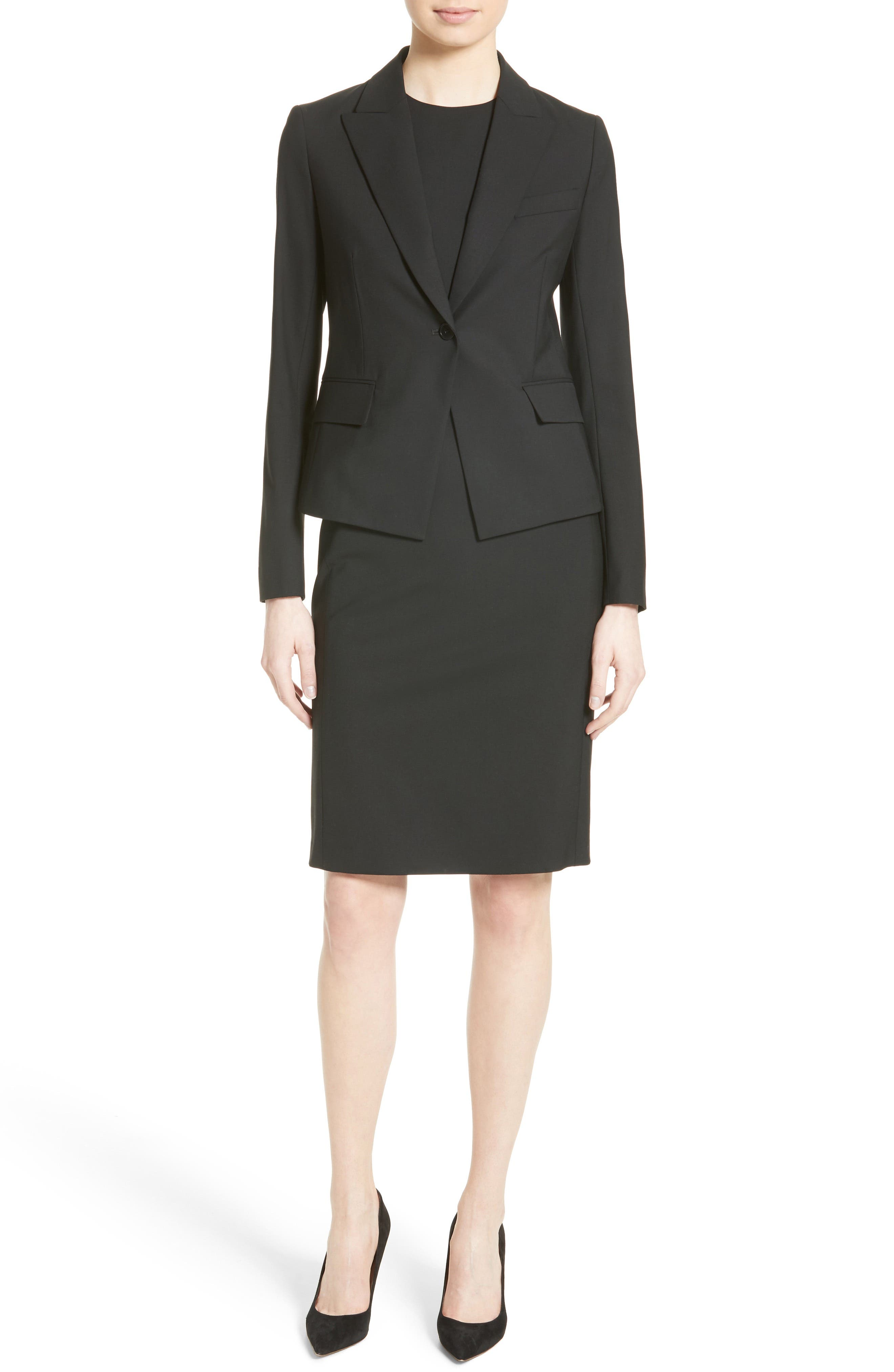Alternate Image 3  - Theory Eano Good Wool Sheath Dress (Nordstrom Exclusive)