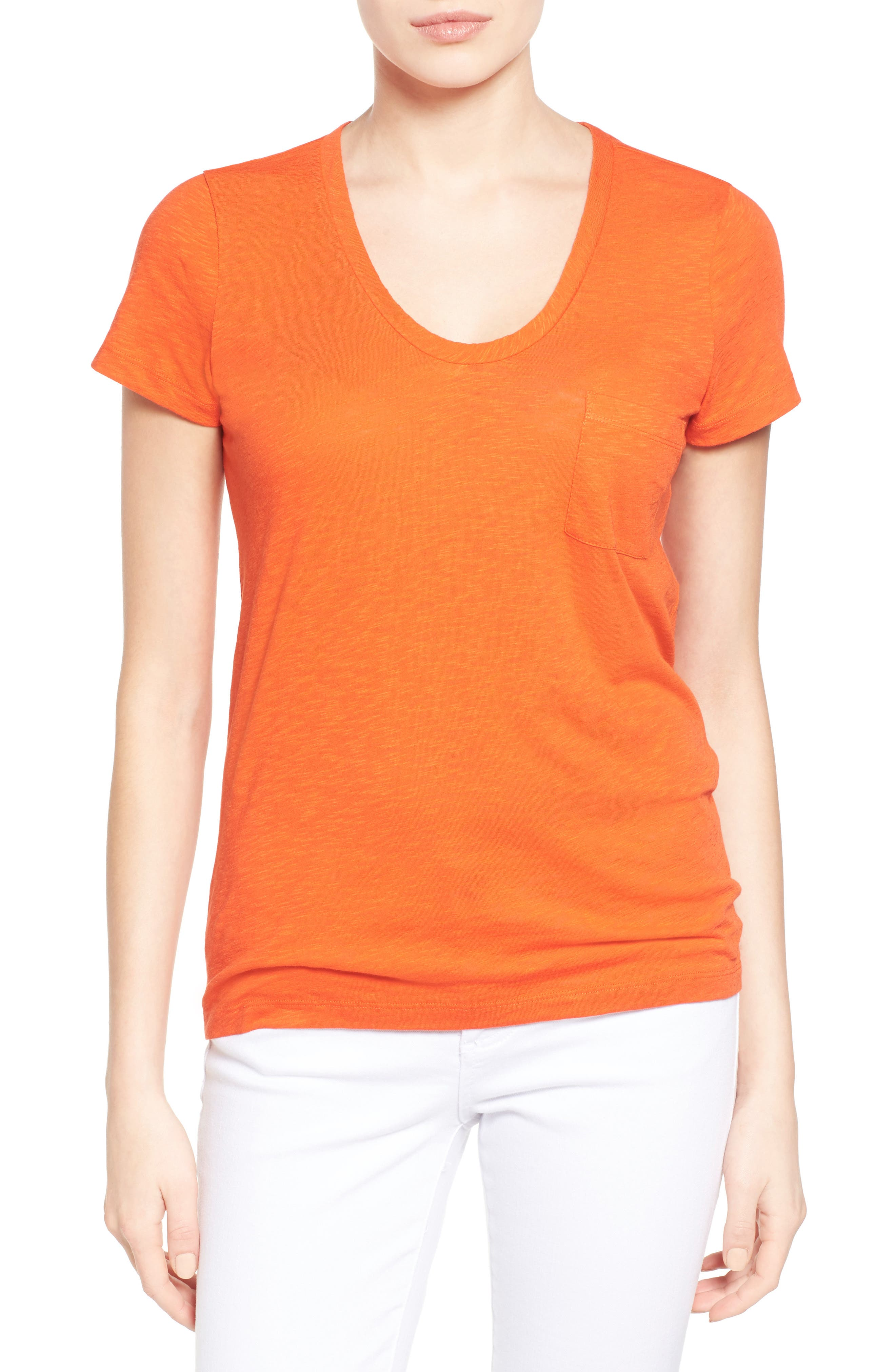 CASLON<SUP>®</SUP> Rounded V-Neck Tee