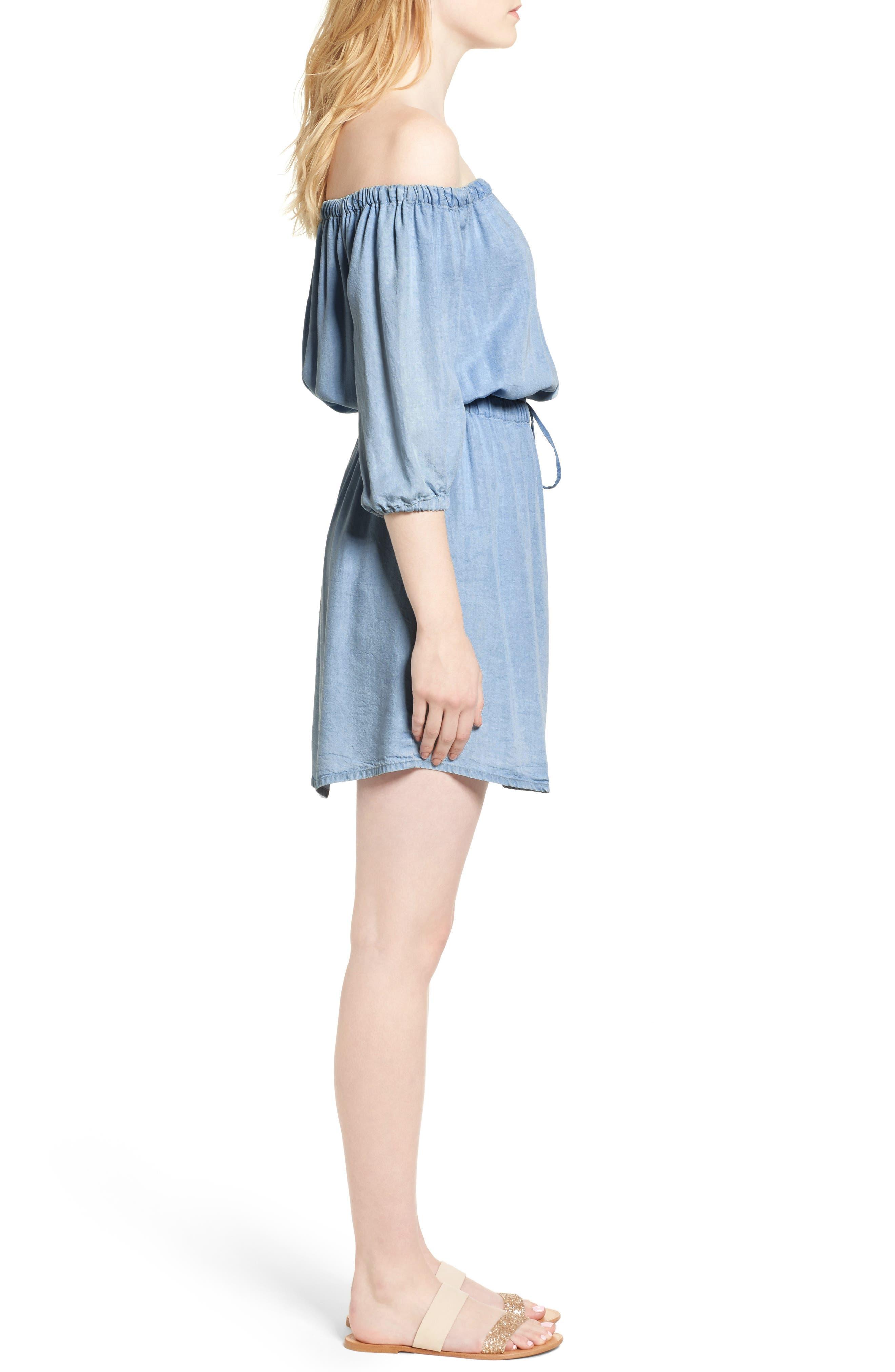 Alternate Image 3  - Splendid Off the Shoulder Blouson Dress