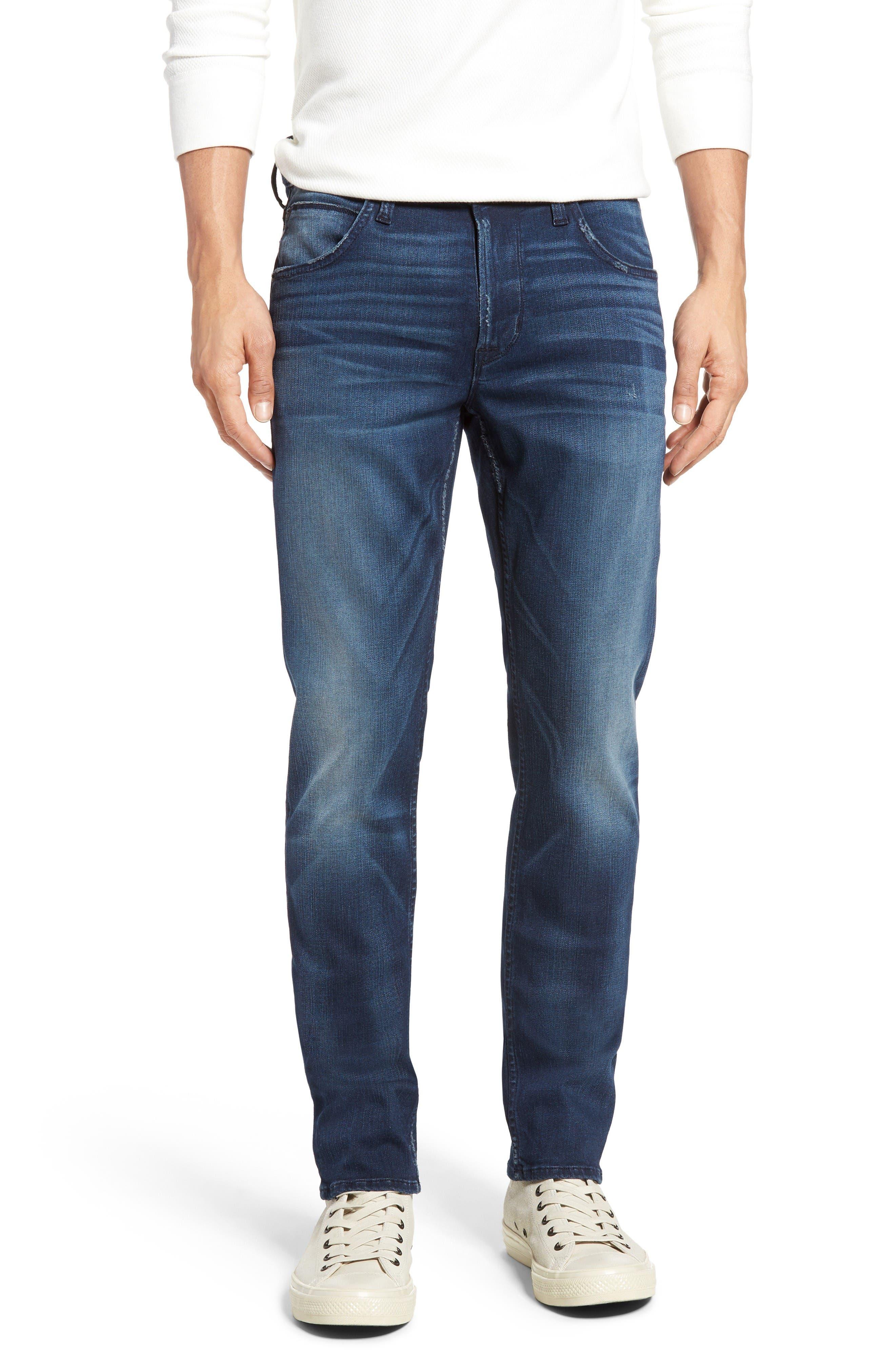 Blake Slim Fit Jeans,                             Main thumbnail 1, color,                             Napoleon Blue