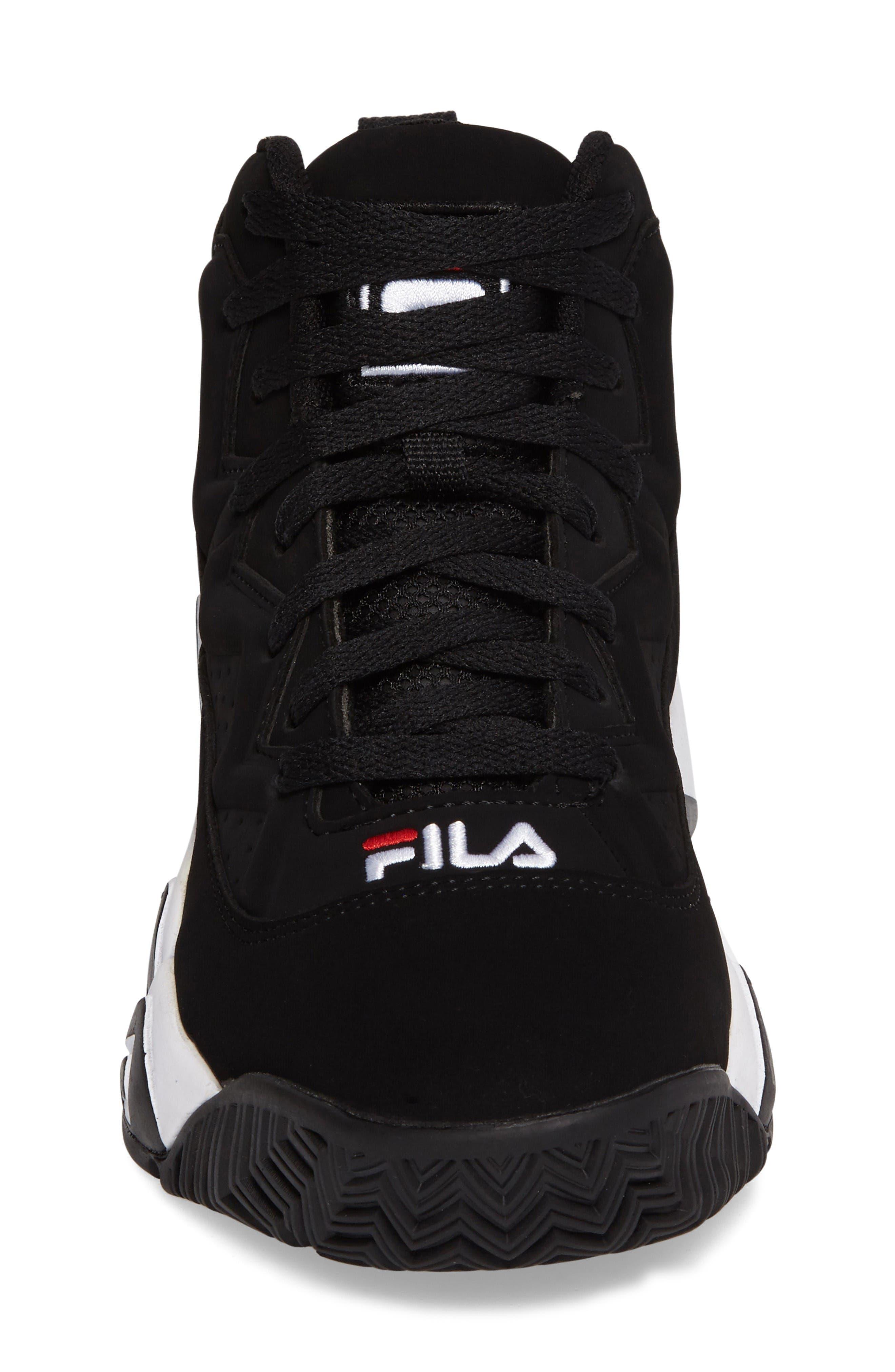 Heritage Sneaker,                             Alternate thumbnail 4, color,                             Black/ White Nubuck Leather