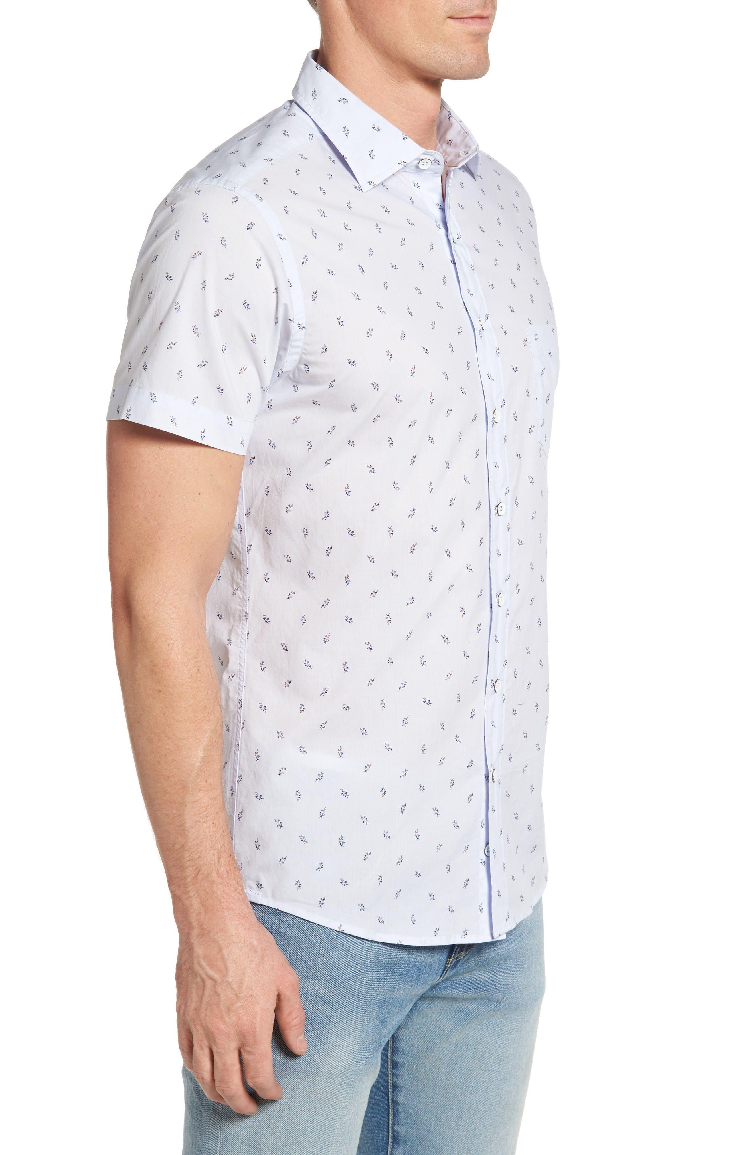 Waterfront Sport Shirt,                             Alternate thumbnail 4, color,                             Powder Blue