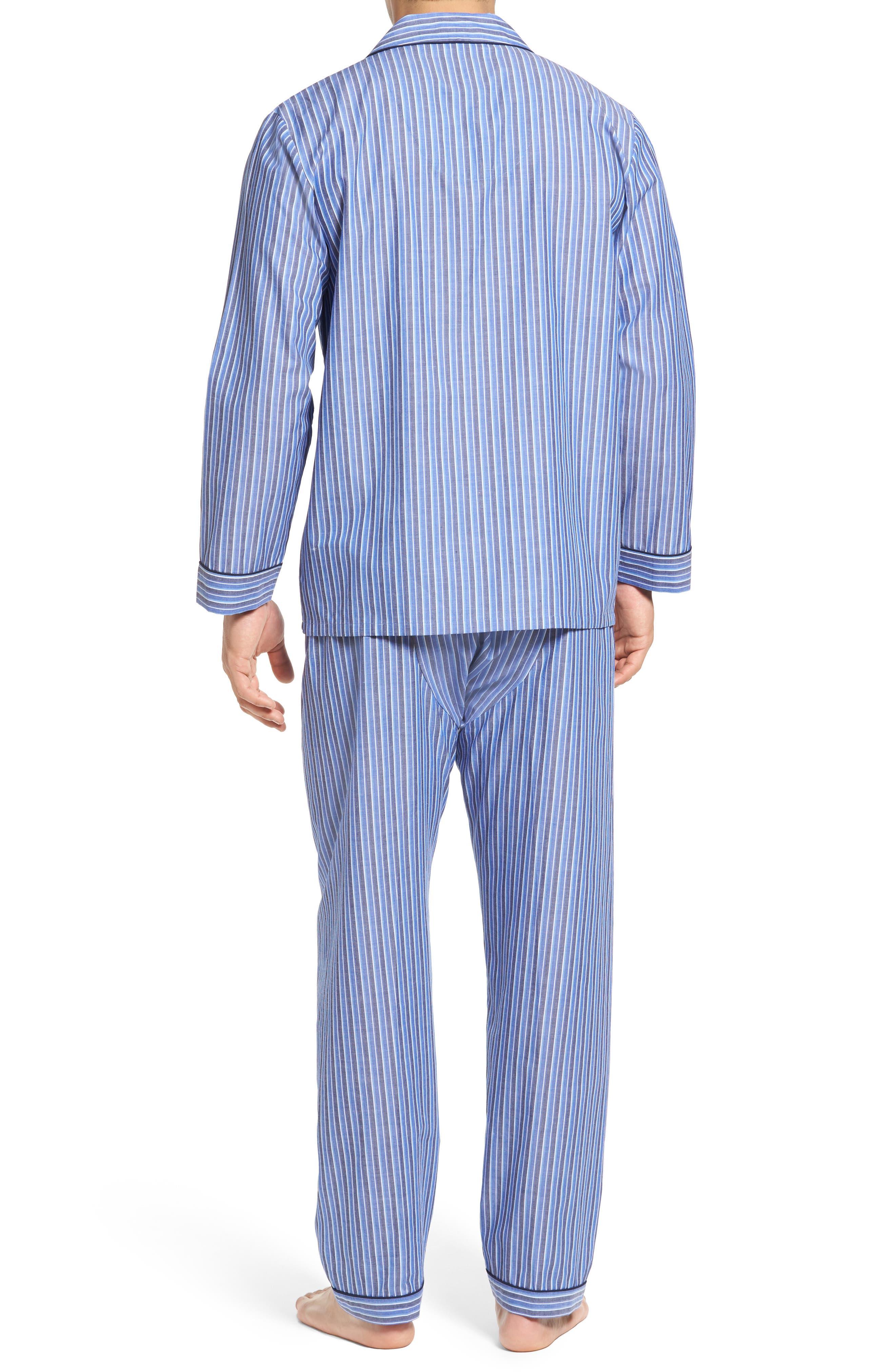 Cole Cotton Blend Pajama Set,                             Alternate thumbnail 2, color,                             Royal Stripe