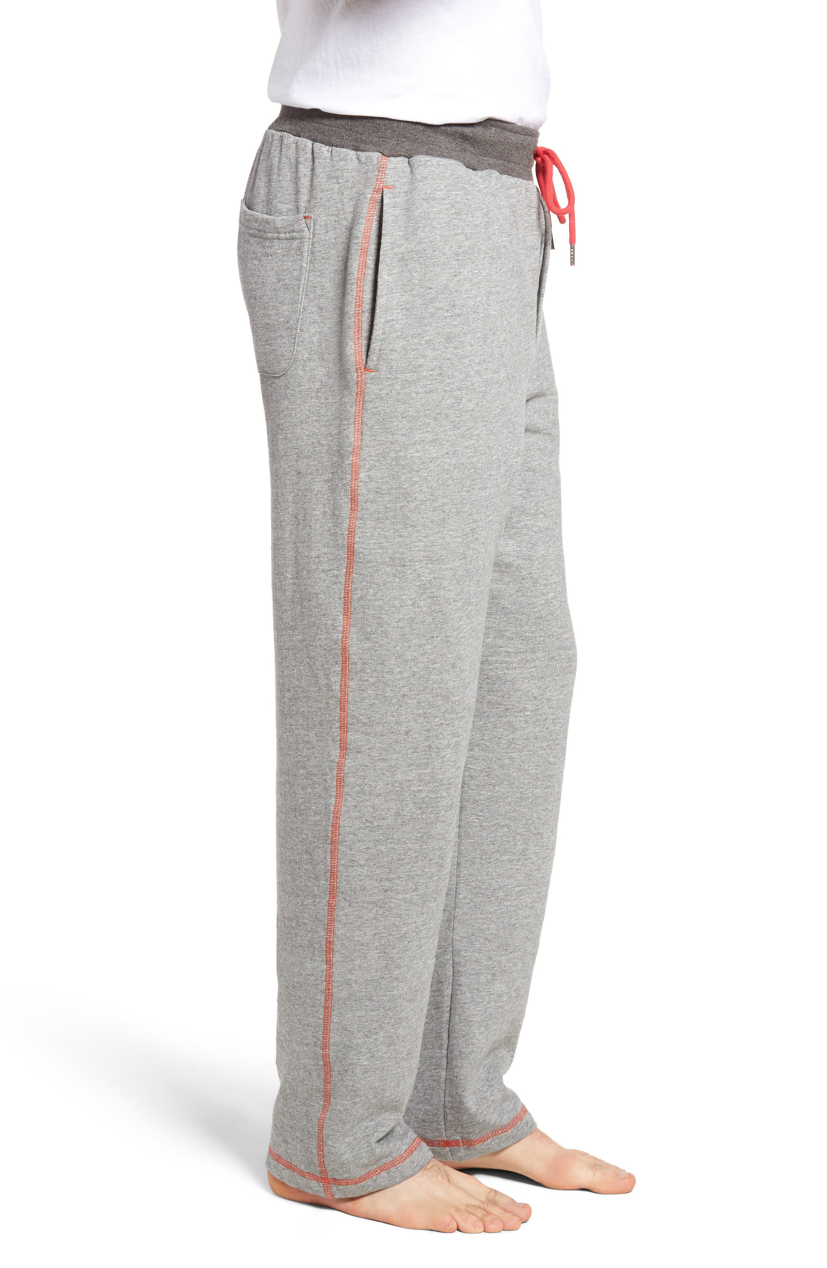 Bhooka Cotton Blend Lounge Pants,                             Alternate thumbnail 3, color,                             Charcoal Heather