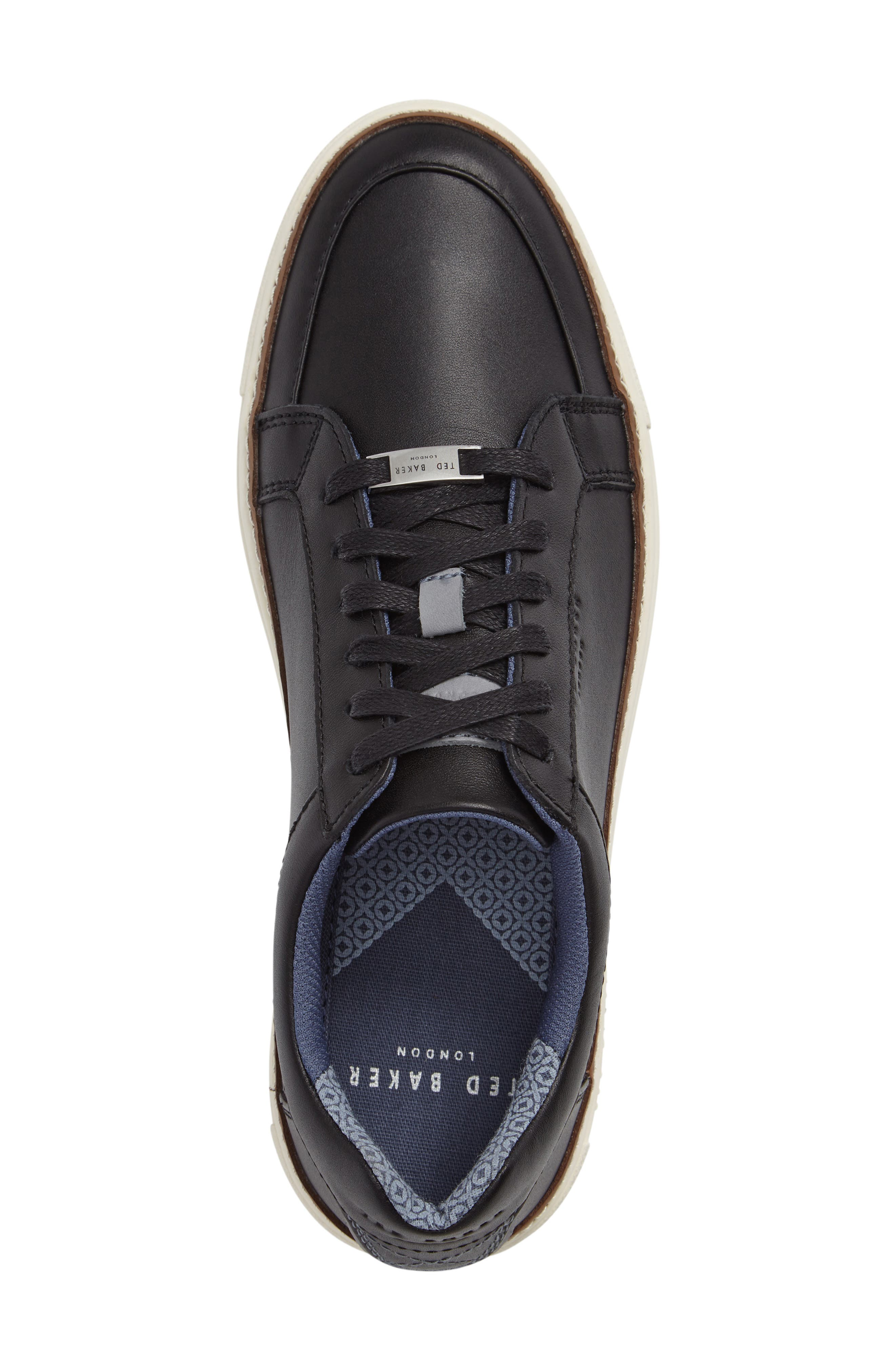 Rouu Sneaker,                             Alternate thumbnail 3, color,                             Black Leather