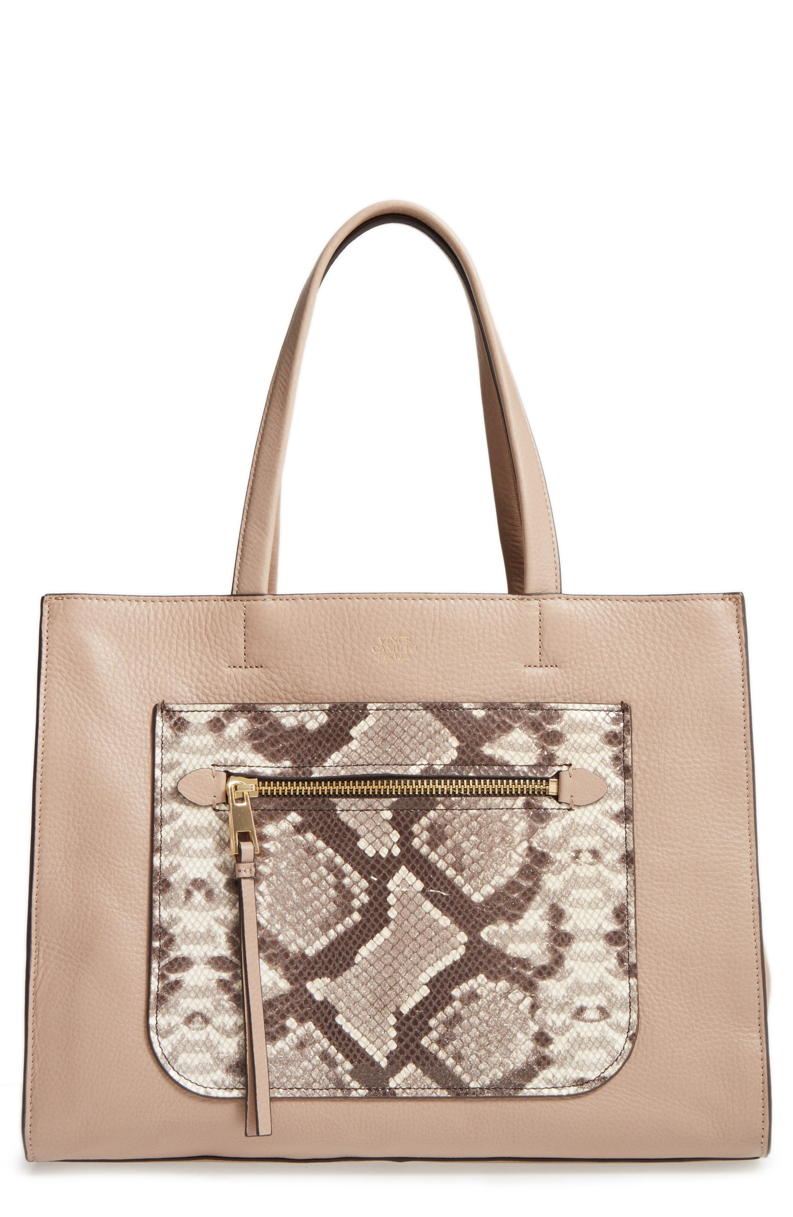 Alternate Image 1 Selected - Vince Camuto Elvan Leather Tote