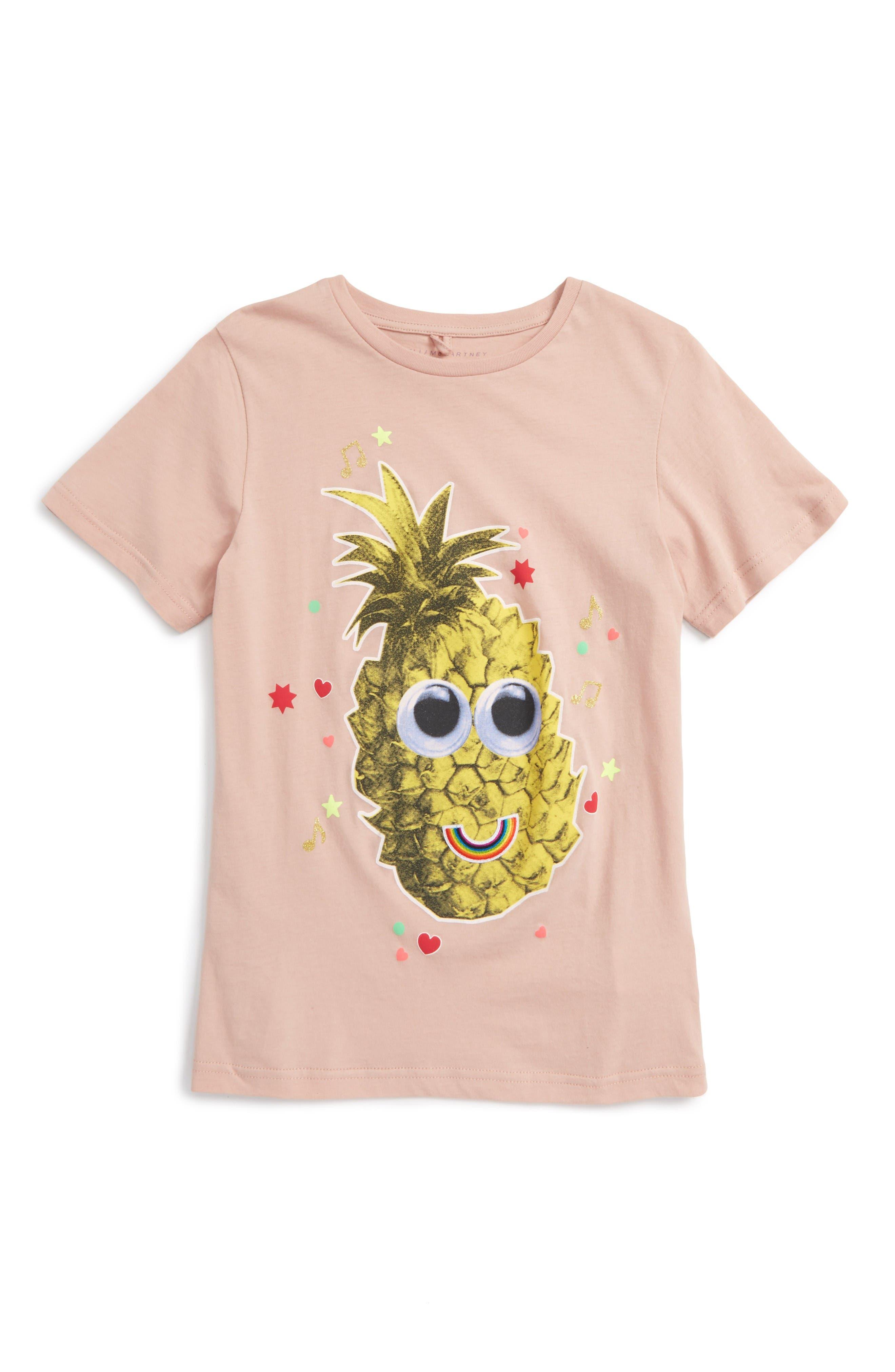 Stella McCartney Kids Arlow Pineapple Tee (Toddler Girls, Little Girls & Big Girls)