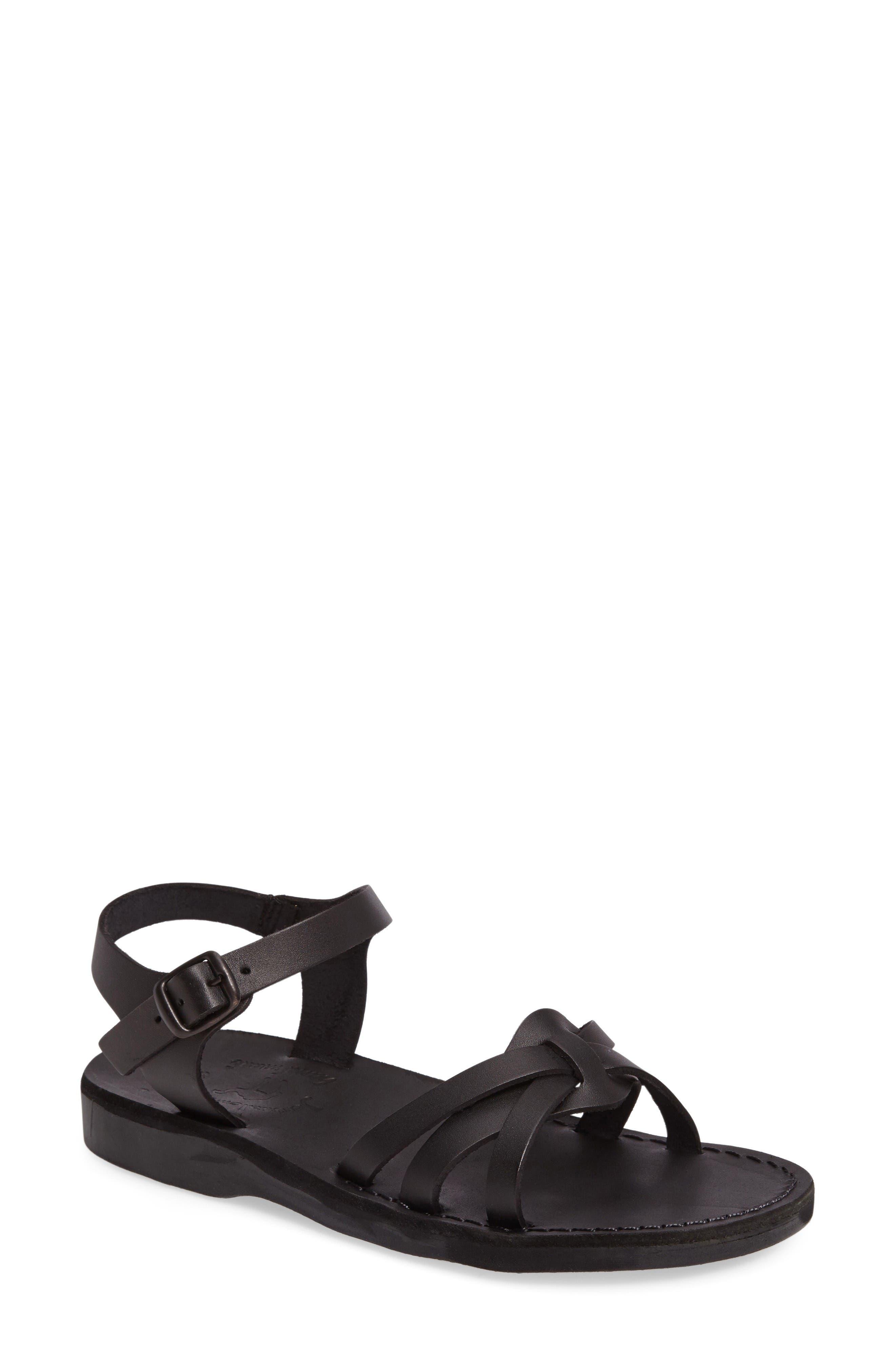 Miriam Sandal,                         Main,                         color, Black Leather