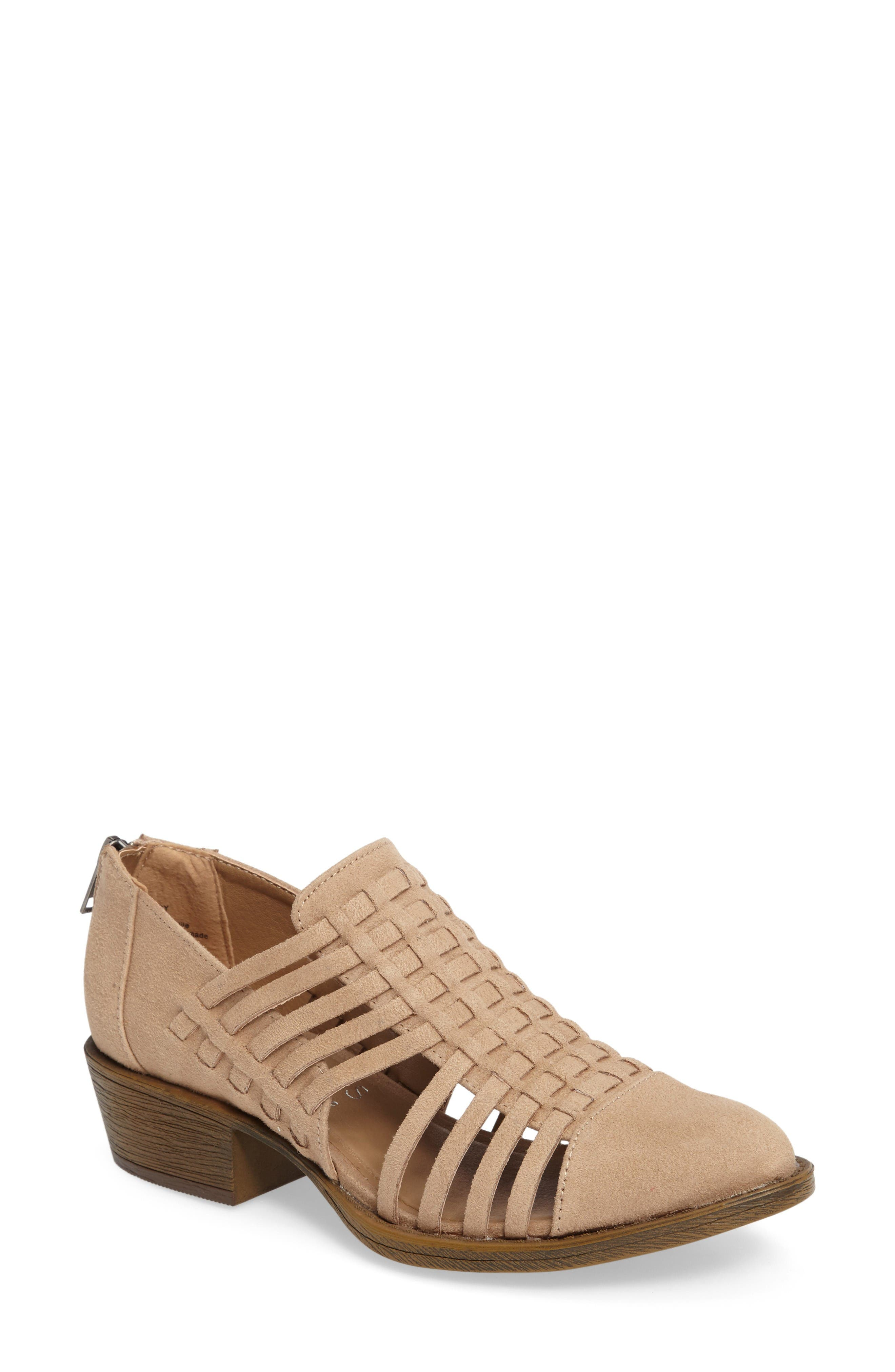 Coconuts by Matisse Woody Bootie,                             Main thumbnail 1, color,                             Natural Fabric