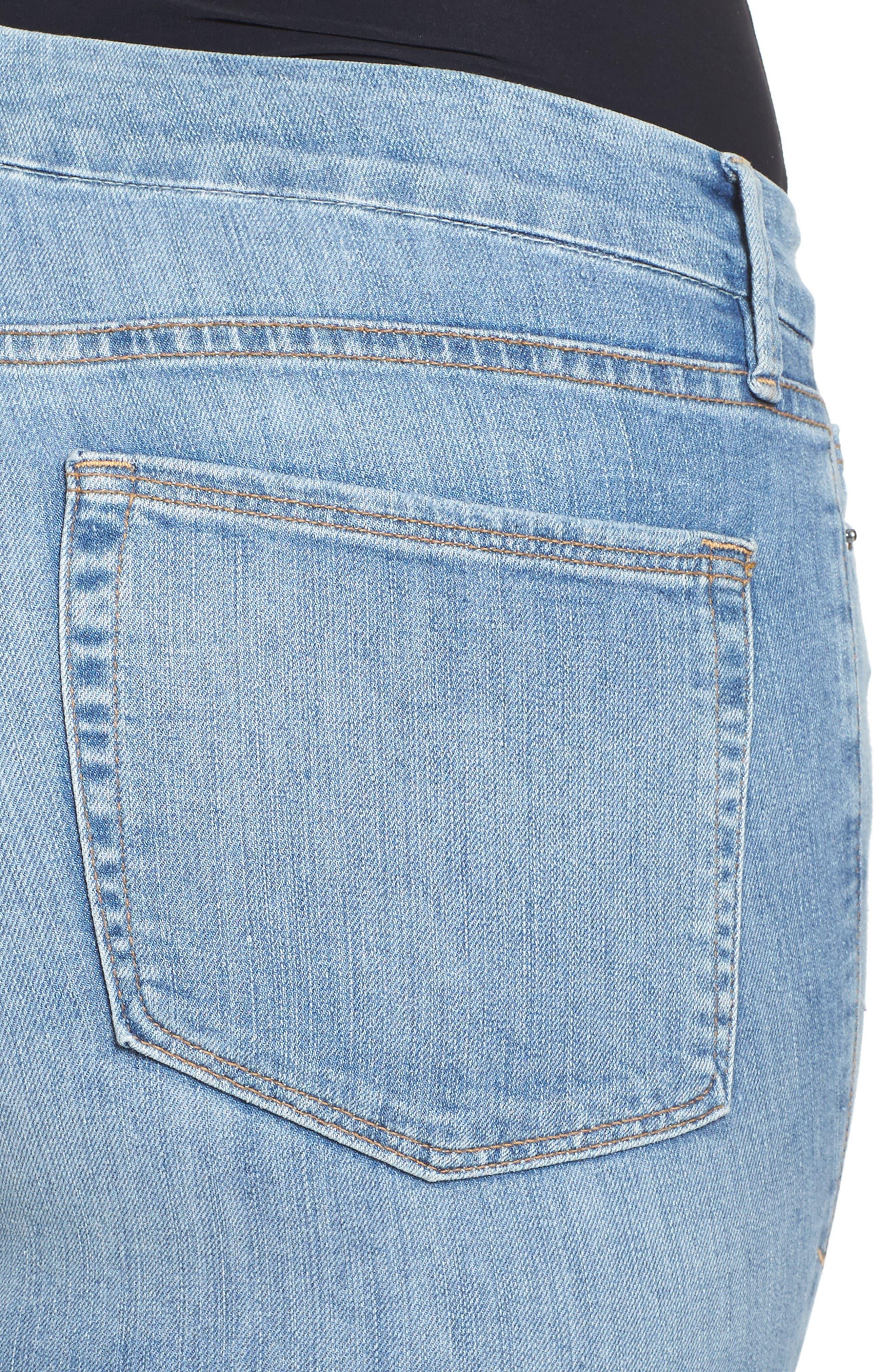 Good Legs Released Hem Skinny Jeans,                             Alternate thumbnail 10, color,                             Blue 023