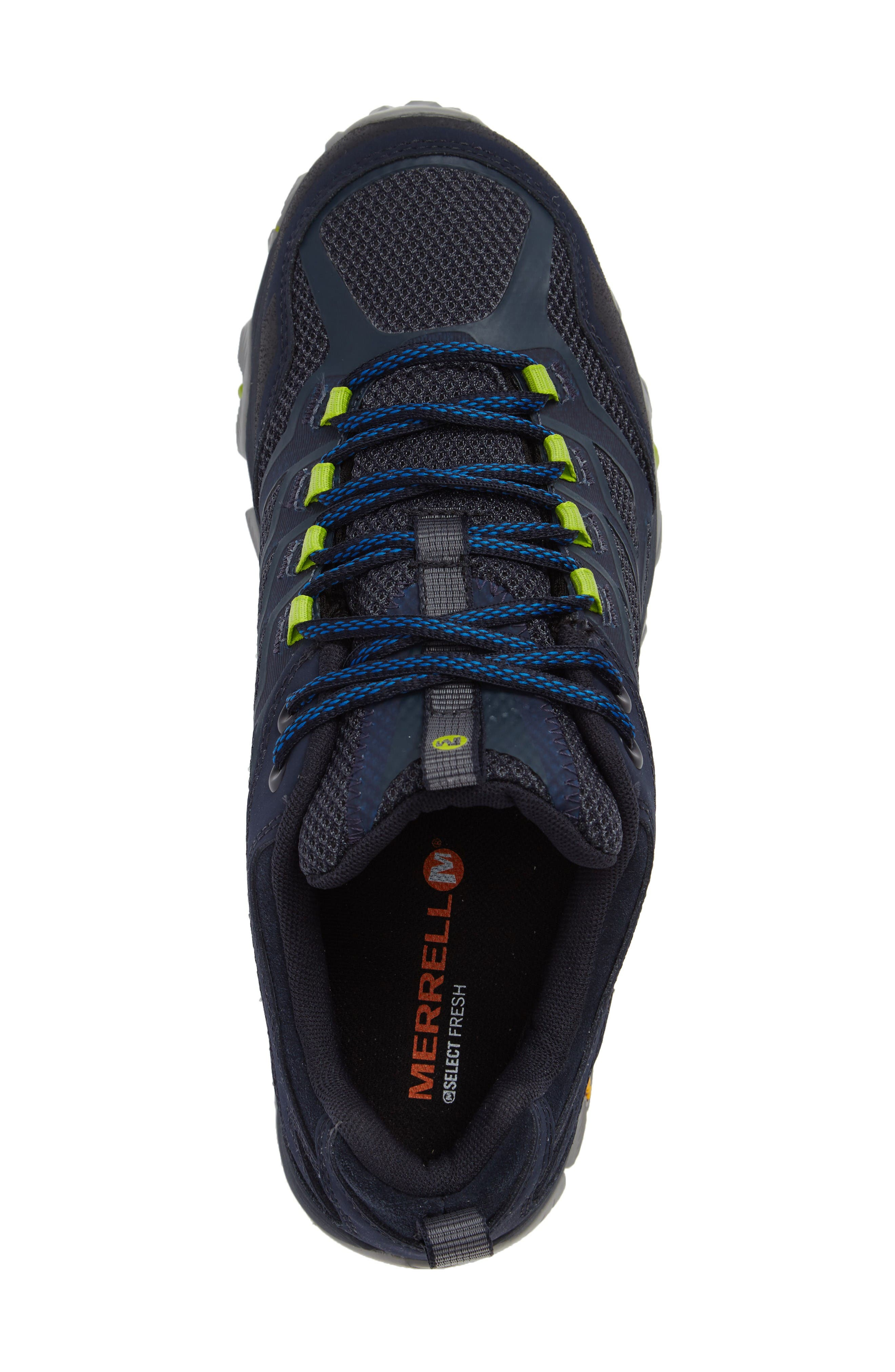 Moab FST Waterproof Hiking Shoe,                             Alternate thumbnail 3, color,                             Navy