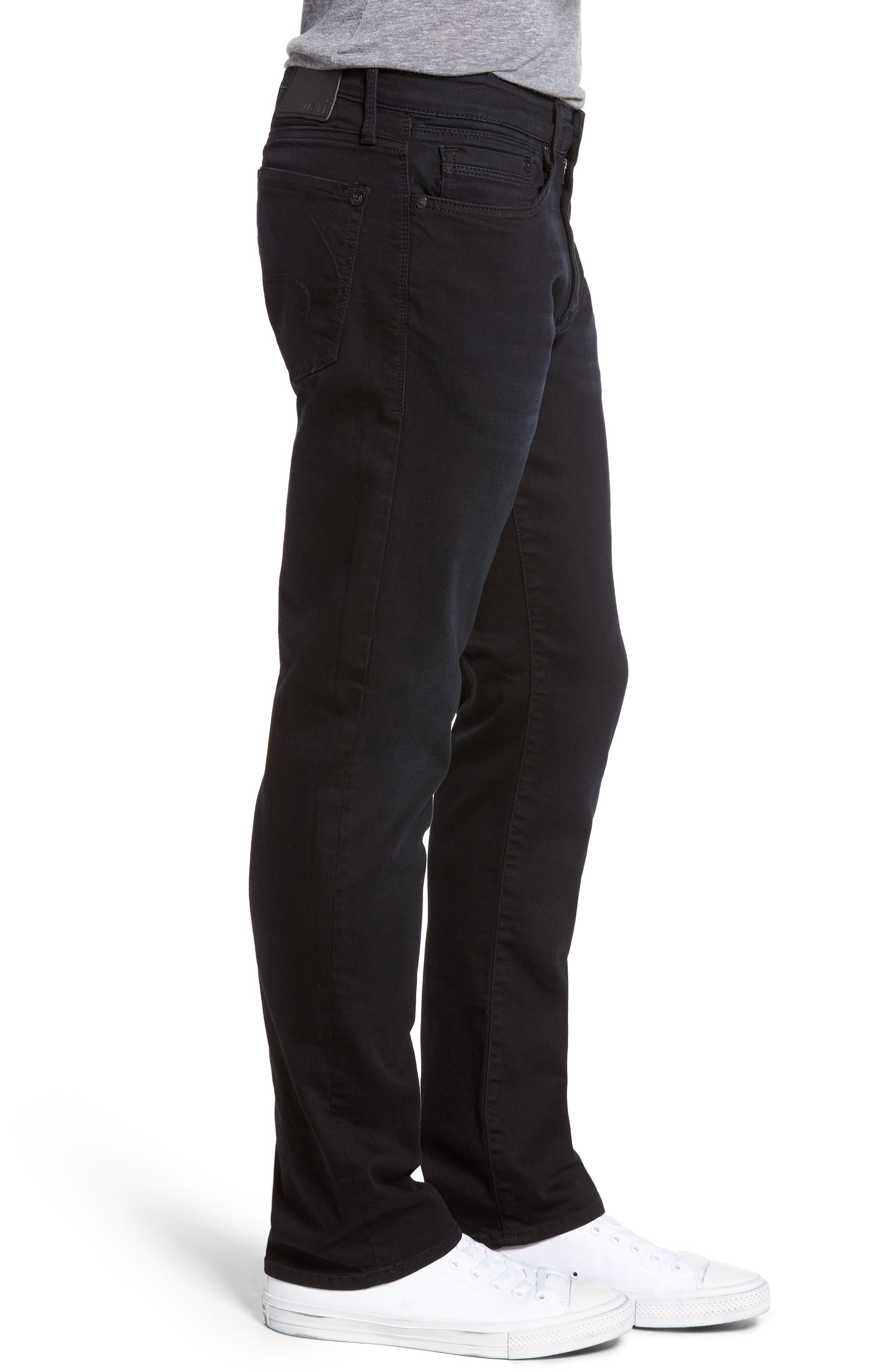 Alternate Image 3  - Mavi Jeans Zach Straight Leg Jeans (E Black Williamsburg)