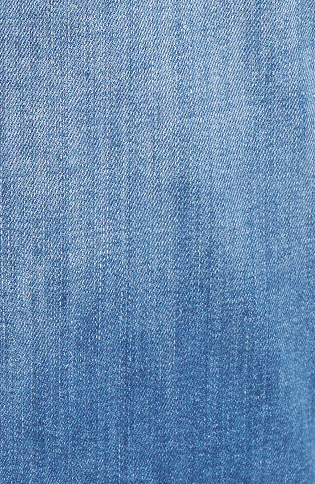 Myles Straight Leg Jeans,                             Alternate thumbnail 5, color,                             Mid Blue Portland