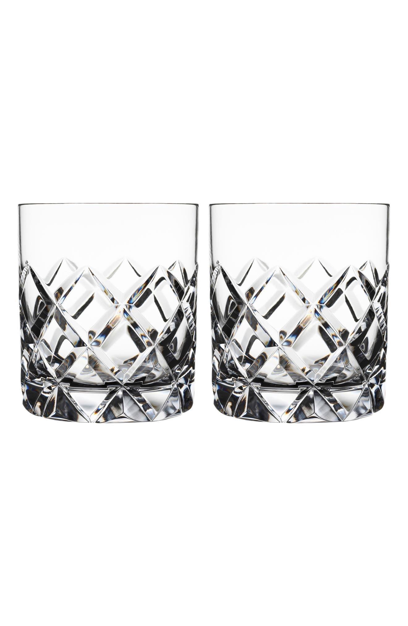Main Image - Orrefors Sofiero Set of 2 Crystal Old Fashioned Glasses