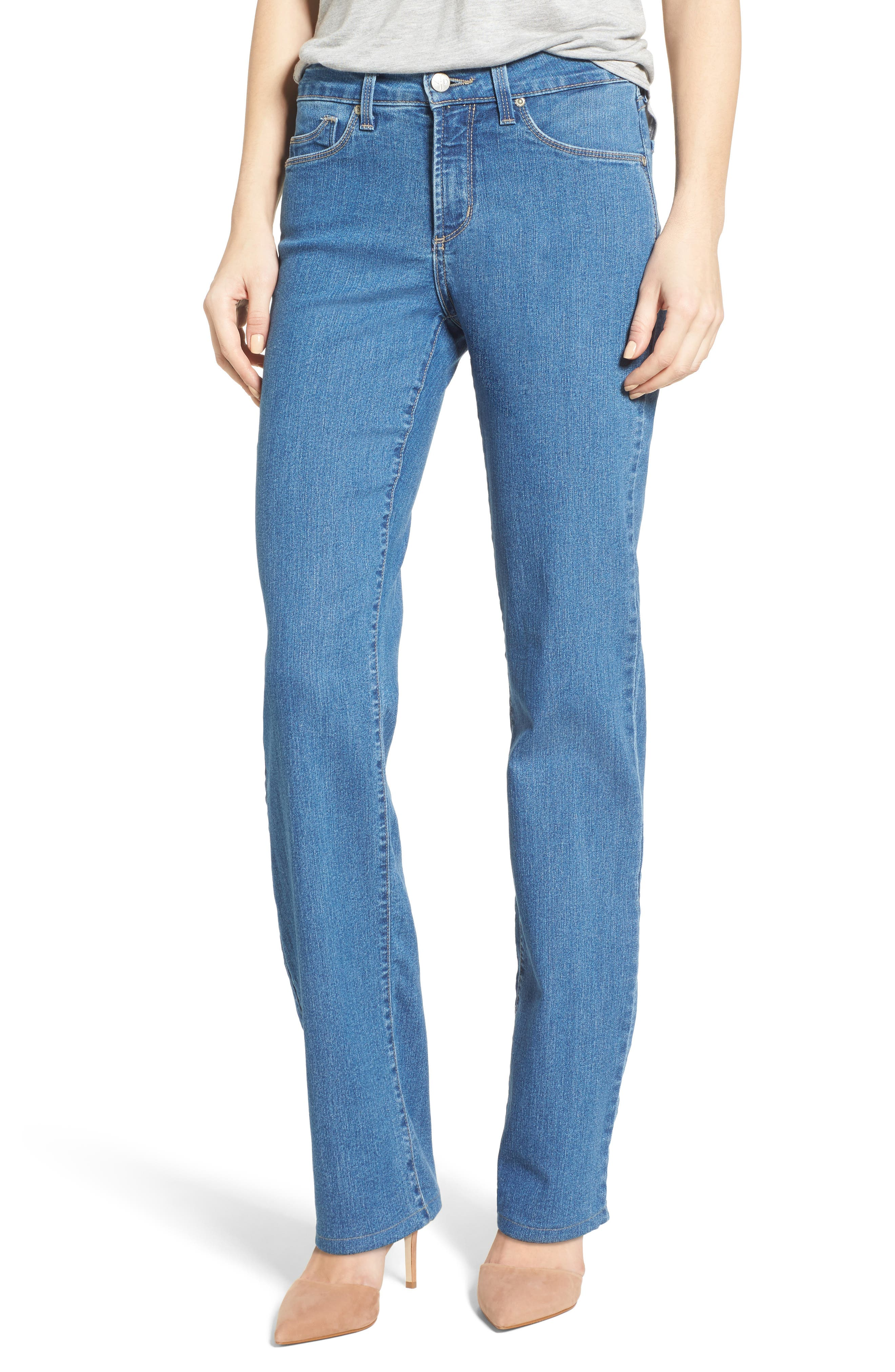 Alternate Image 1 Selected - NYDJ Marilyn Stretch Straight Leg Jeans (Monrovia)