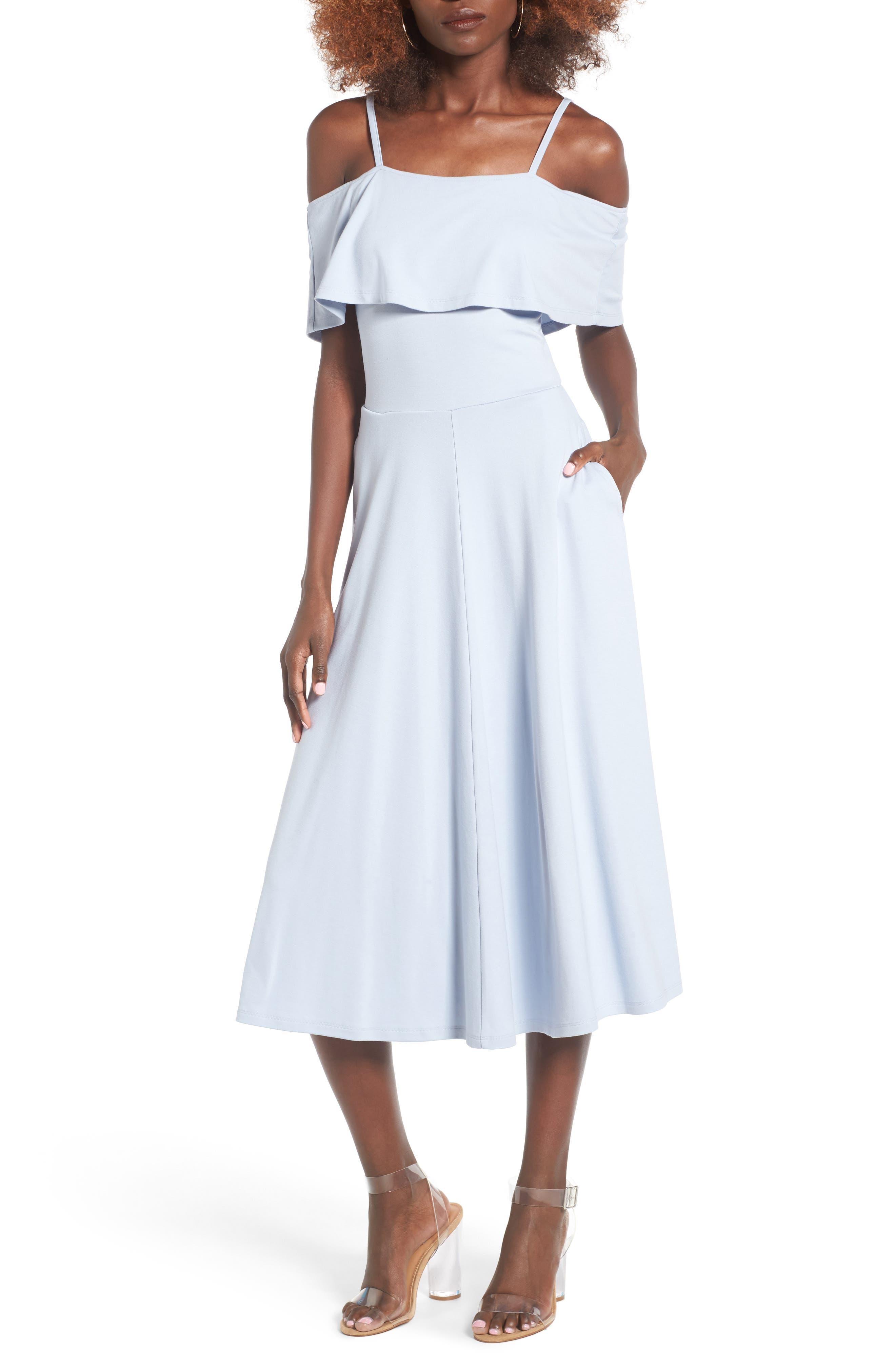 Alternate Image 1 Selected - Leith Cold Shoulder Midi Dress