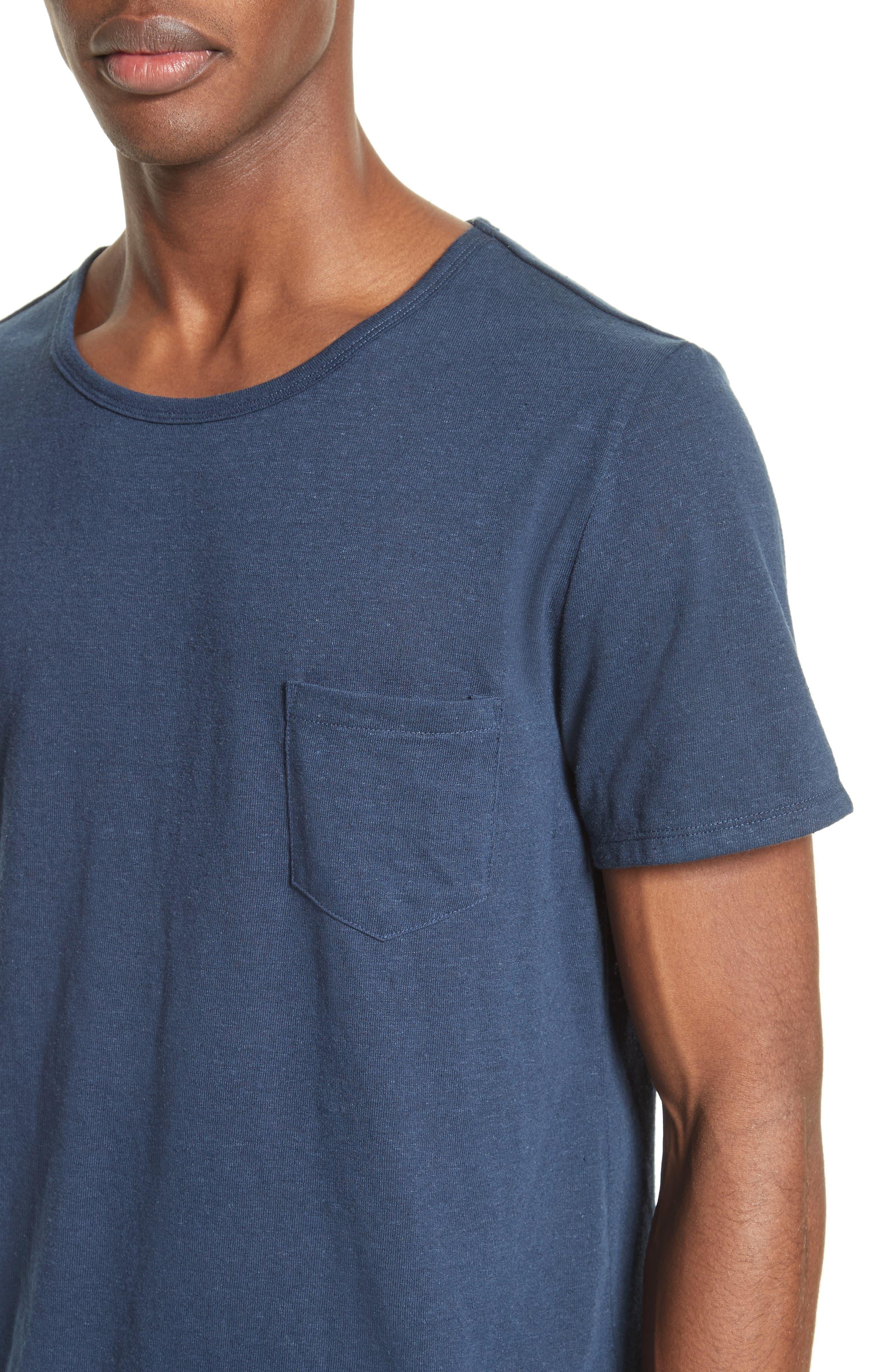 Alternate Image 4  - ONIA Chad Linen Blend Pocket T-Shirt