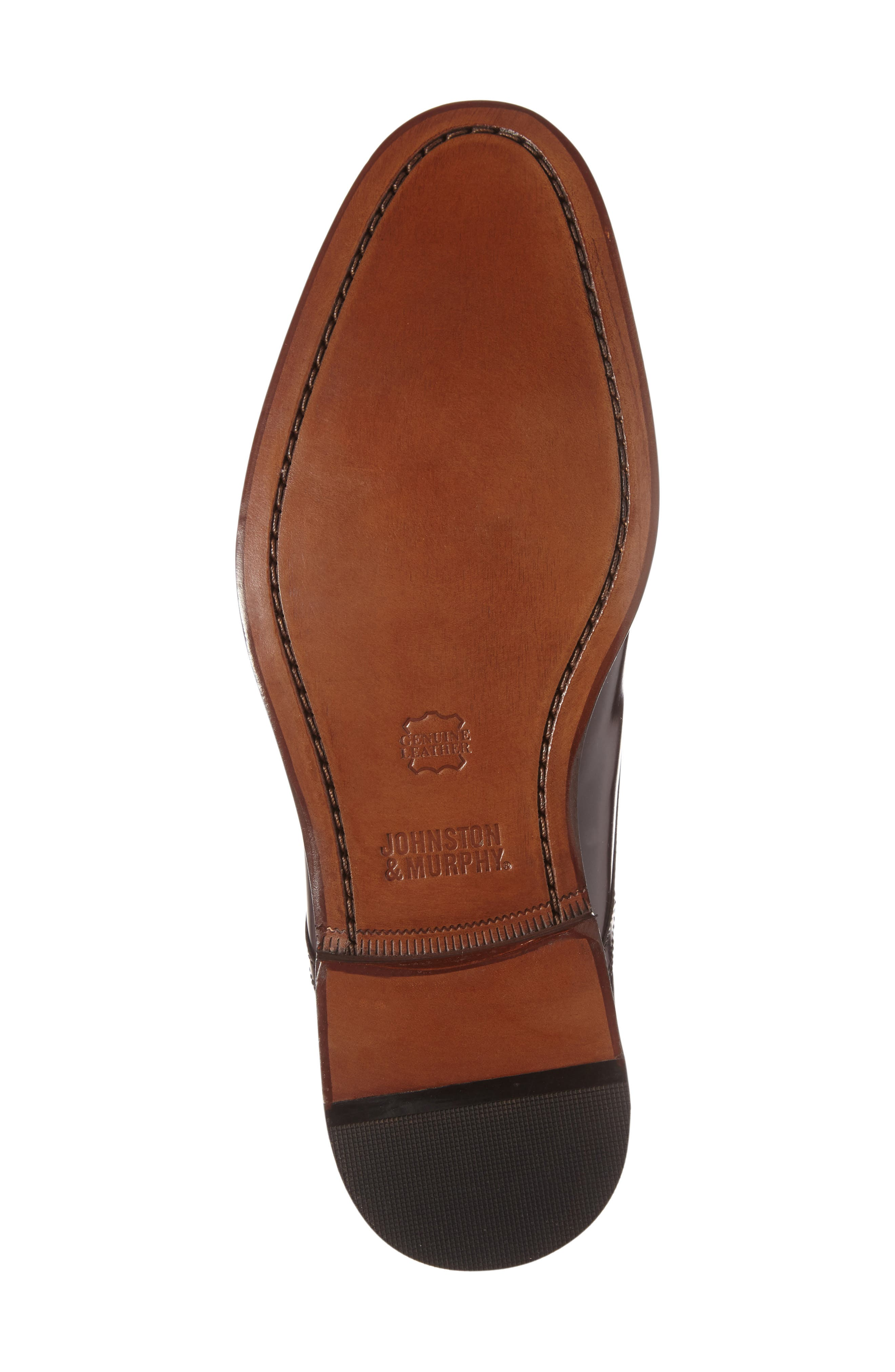 Bradford Apron-Toe Oxford,                             Alternate thumbnail 5, color,                             Burgundy Leather