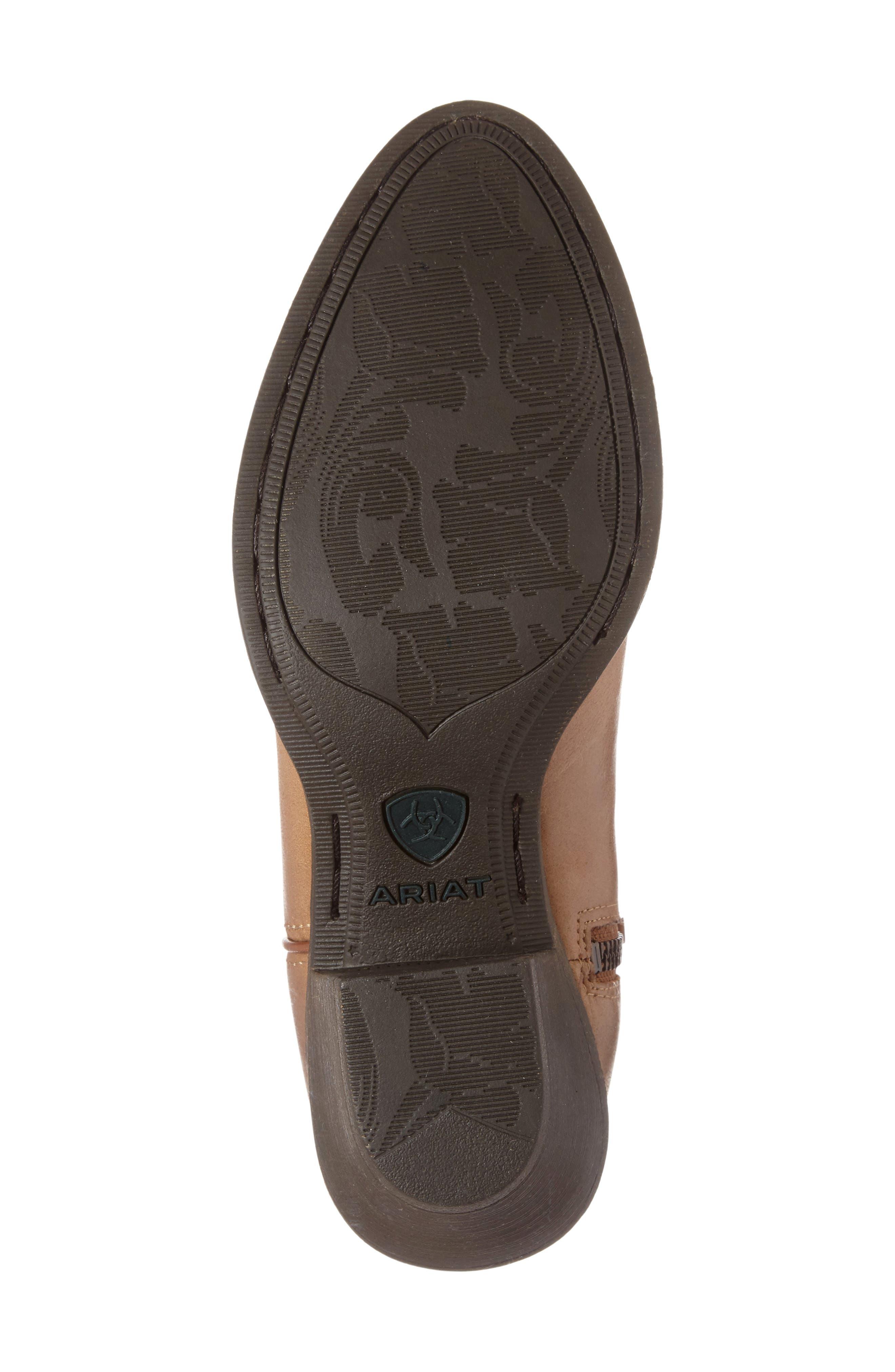 Darlin Short Western Boot,                             Alternate thumbnail 4, color,                             Burnt Sugar Leather