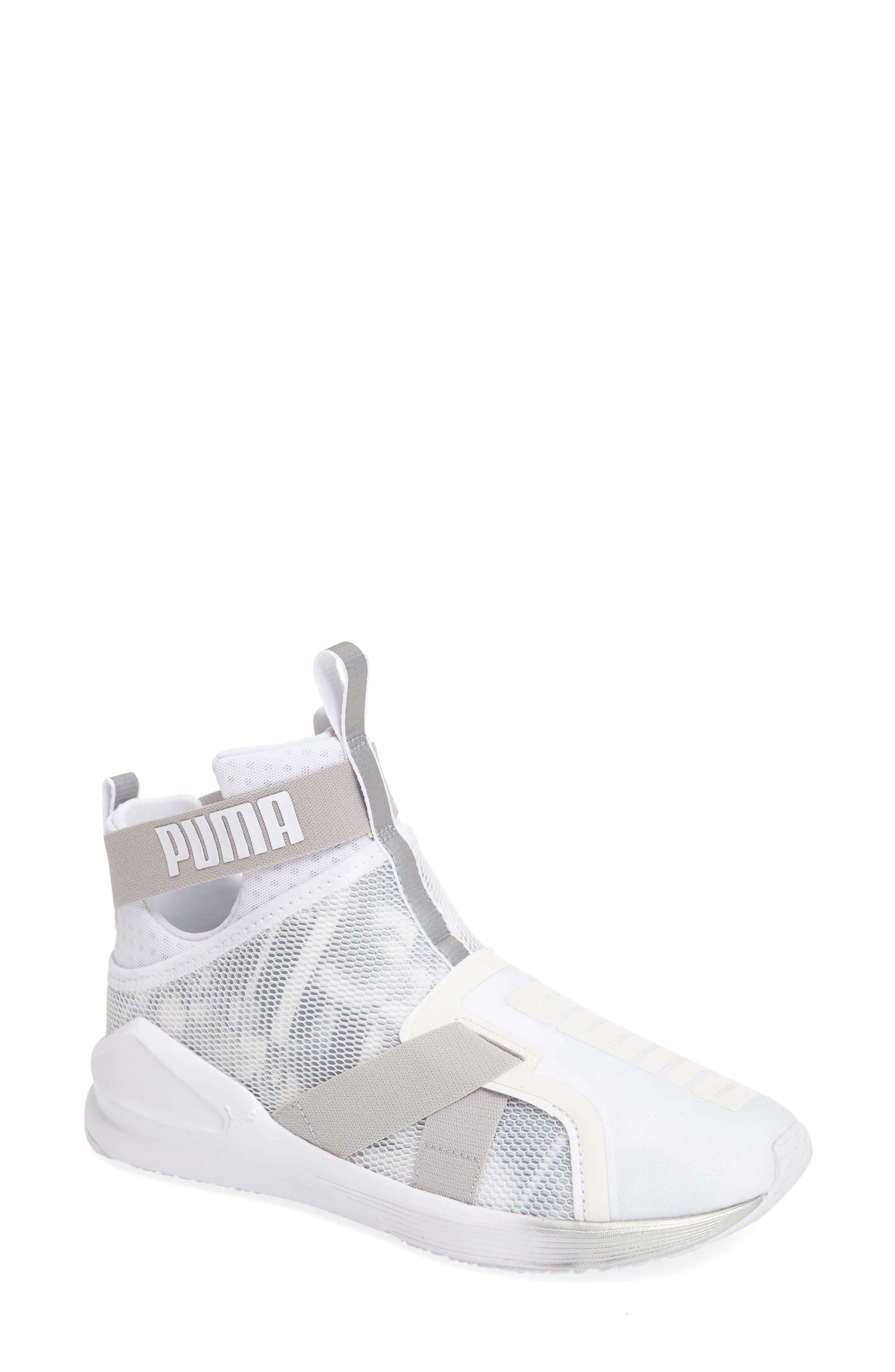 PUMA Fierce Strap Swan Training Sneaker (Women)