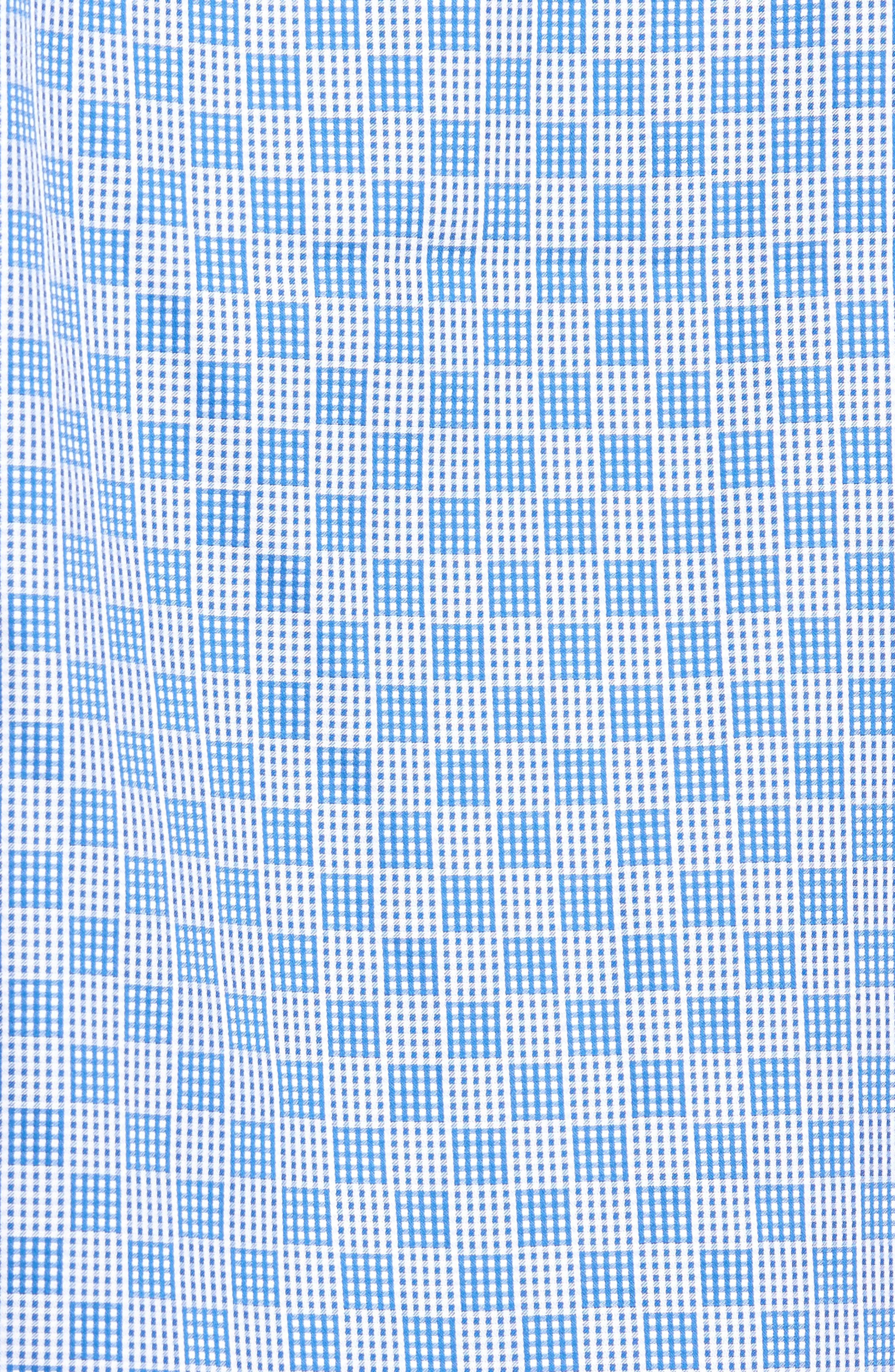 Alternate Image 5  - Bugatchi Shaped Fit Check Sport Shirt