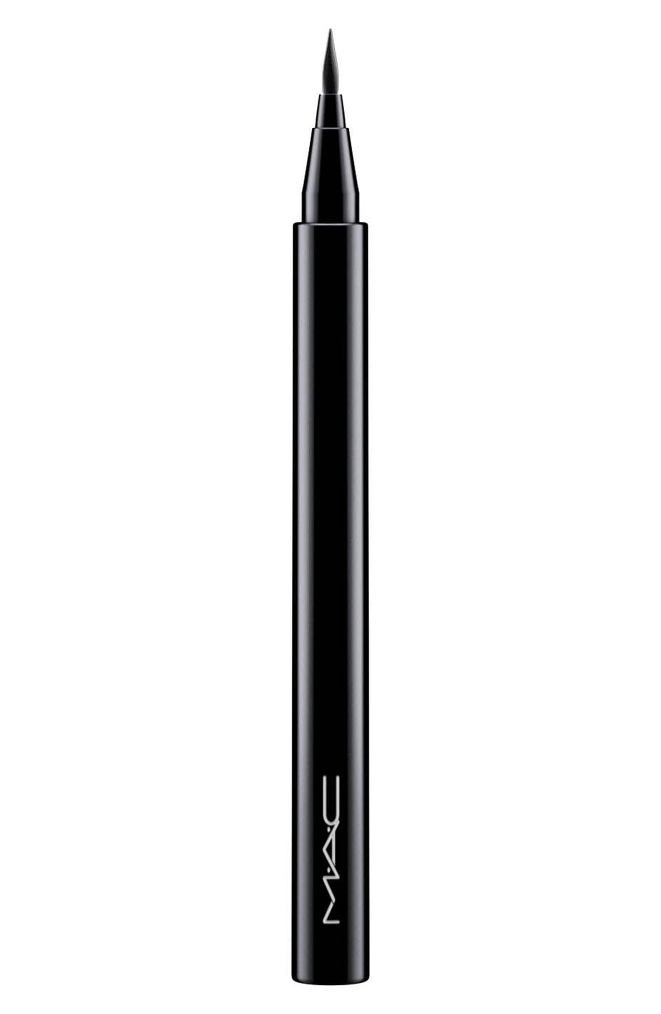 MAC Brushstroke Liner,                             Main thumbnail 1, color,                             Brushblack