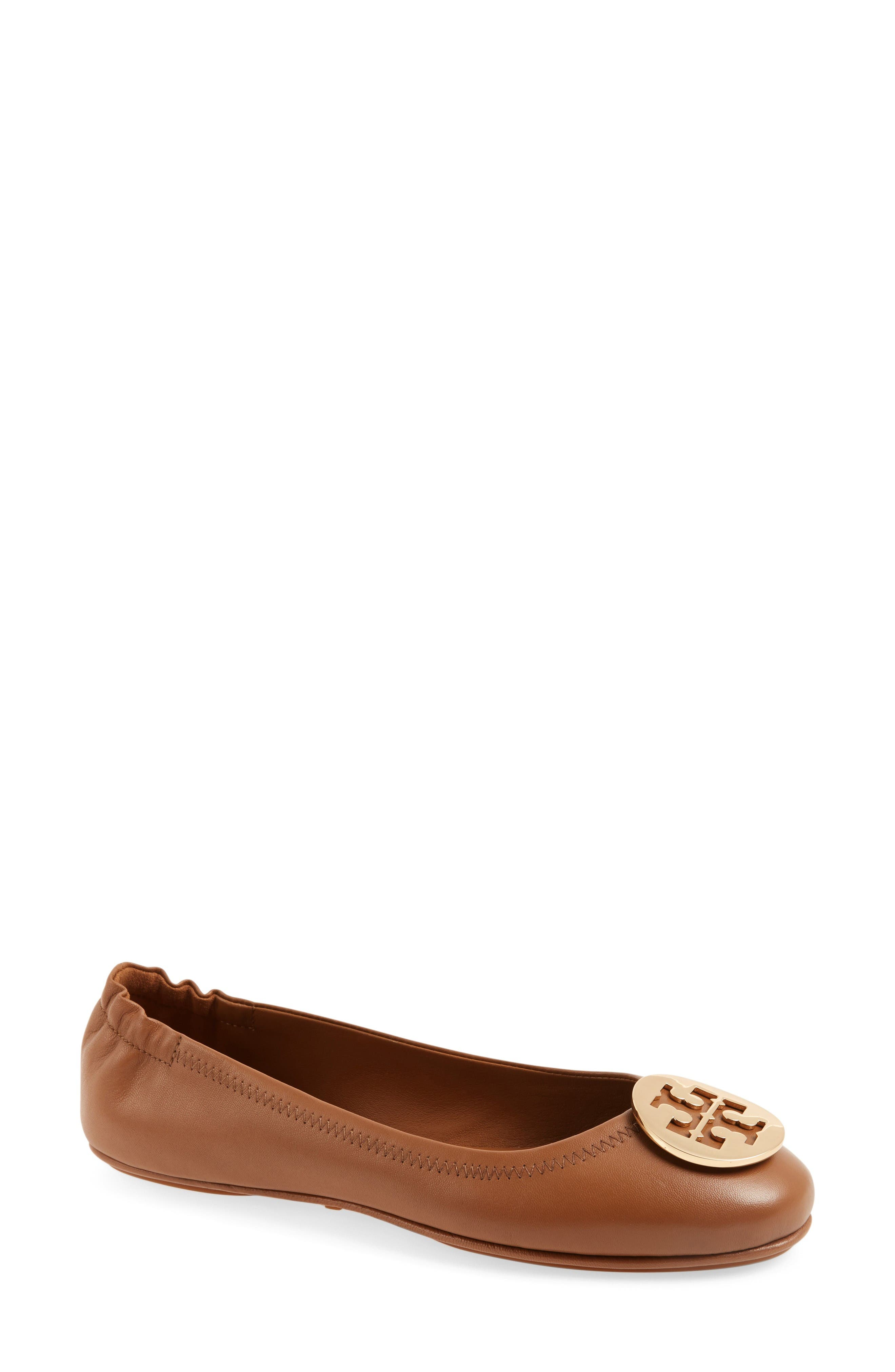 Tory Burch 'Minnie' Travel Ballet Flat (Women). Previous. ROYAL TAN; BLACK  LEATHER ...