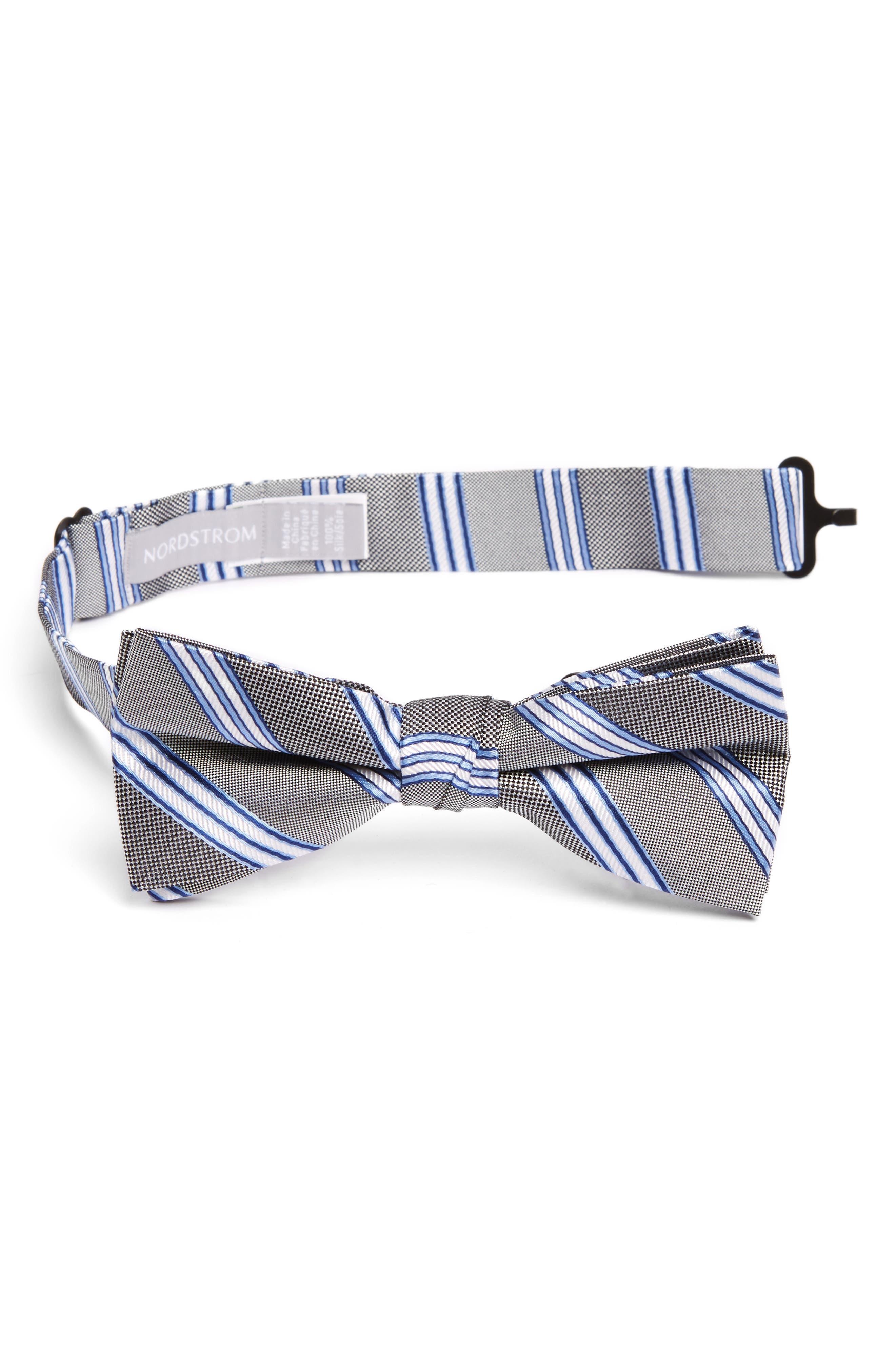 Nordstrom Stripe Silk Bow Tie (Big Boys)