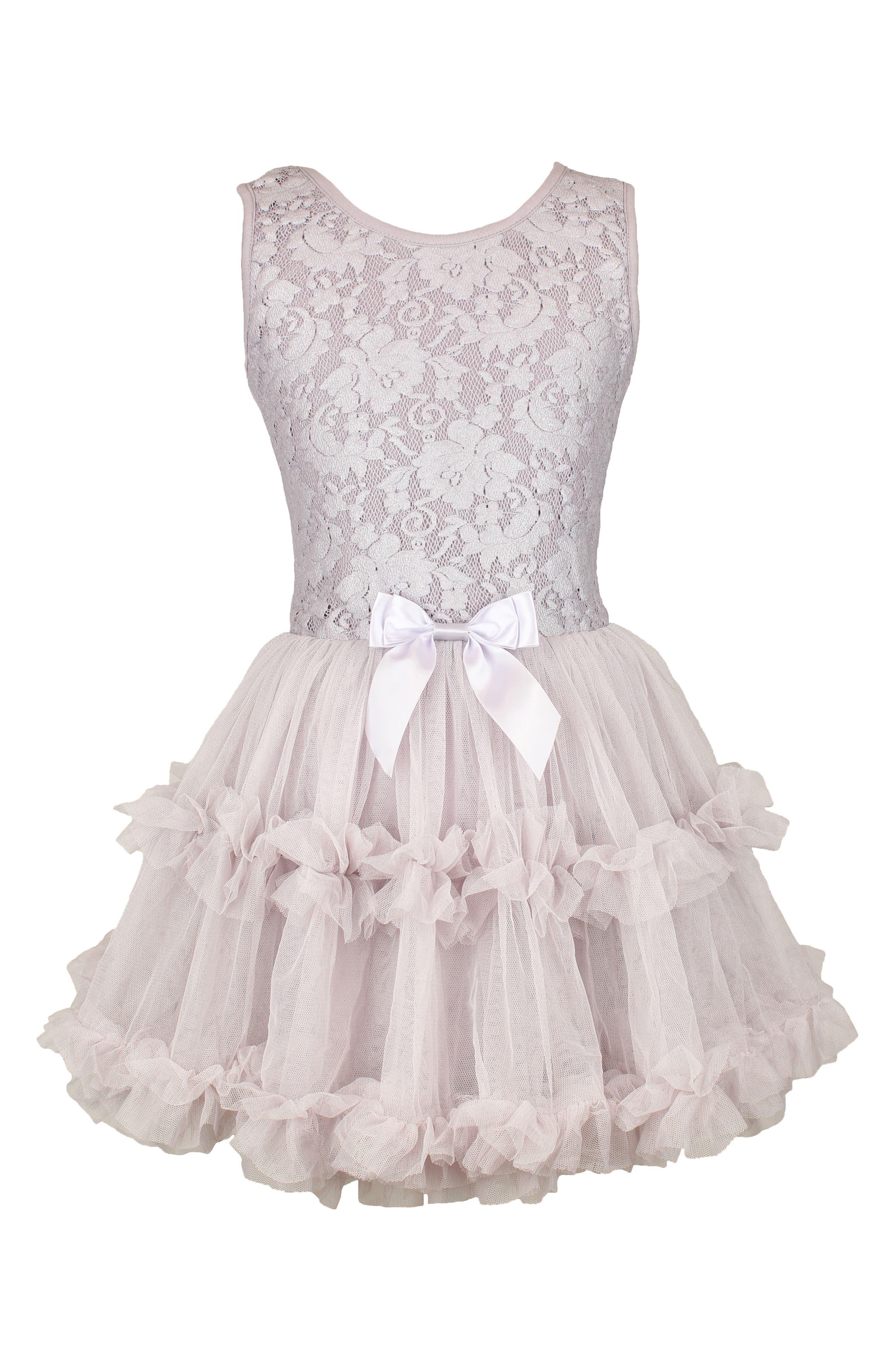Popatu Lace & Tulle Sleeveless Dress (Little Girls & Big Girls)