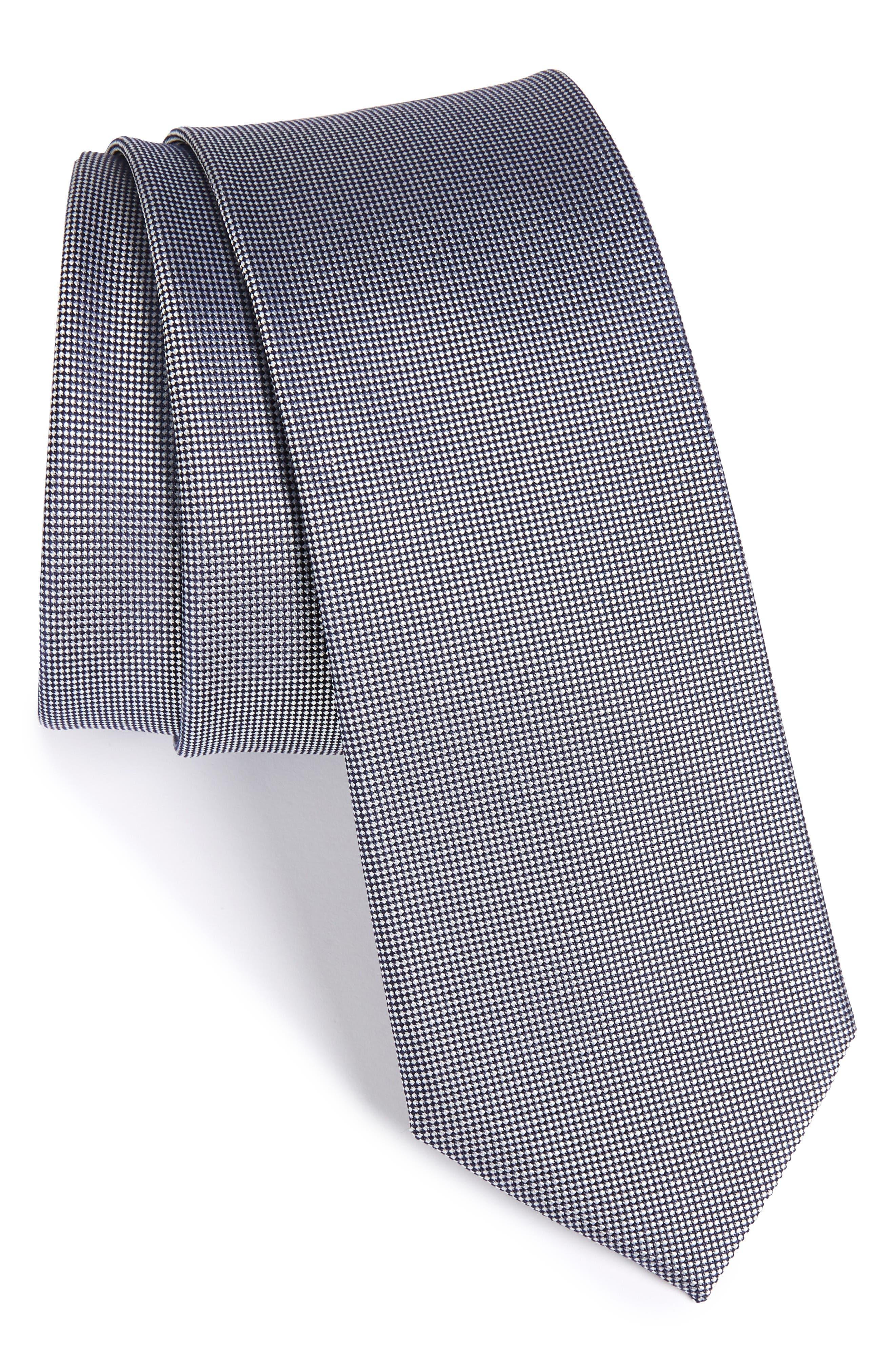 Foley Silk Tie,                         Main,                         color, Navy