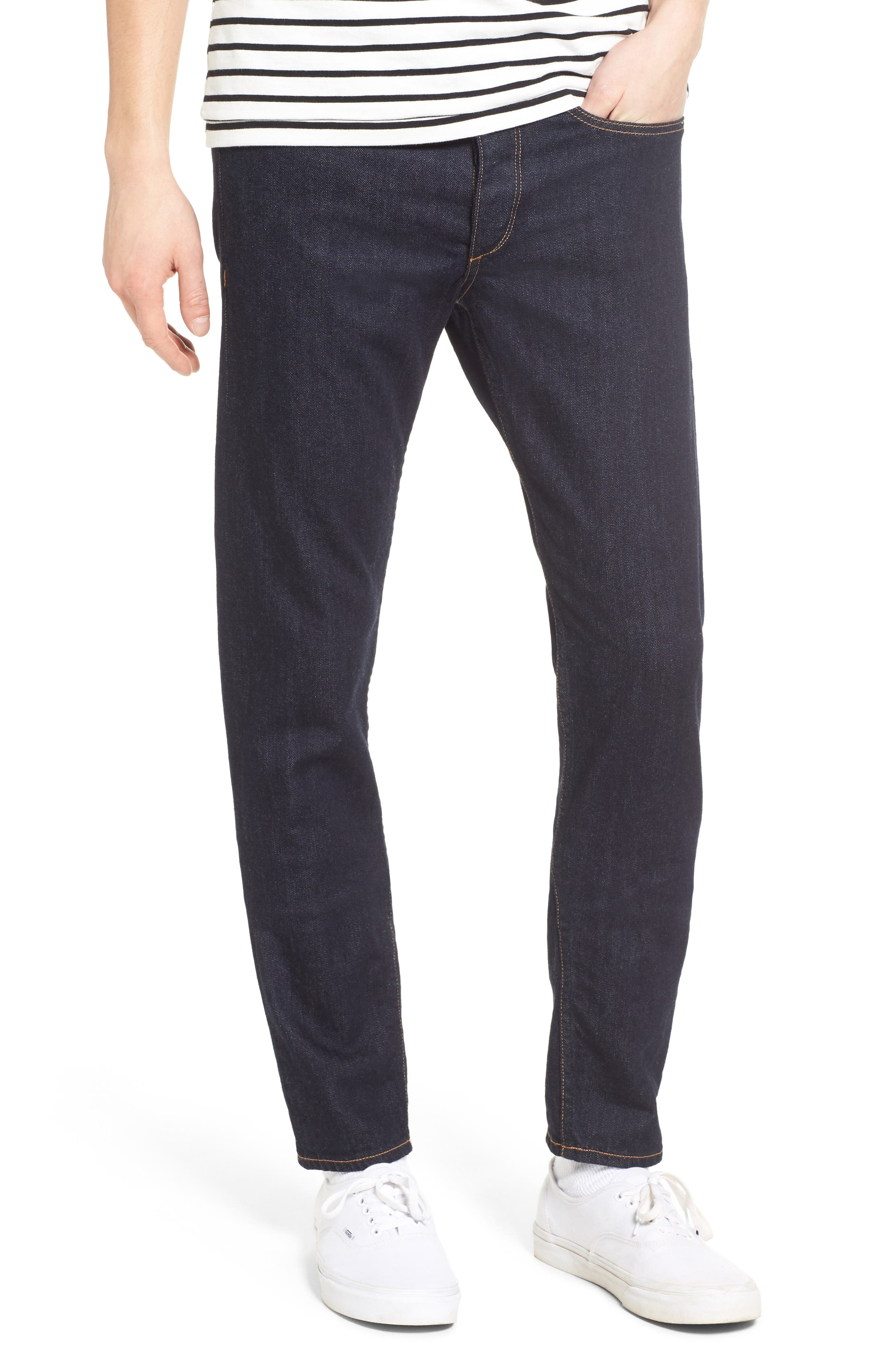 Standard Issue Fit 1 Skinny Fit Jeans,                             Main thumbnail 1, color,                             Rinse Selvage