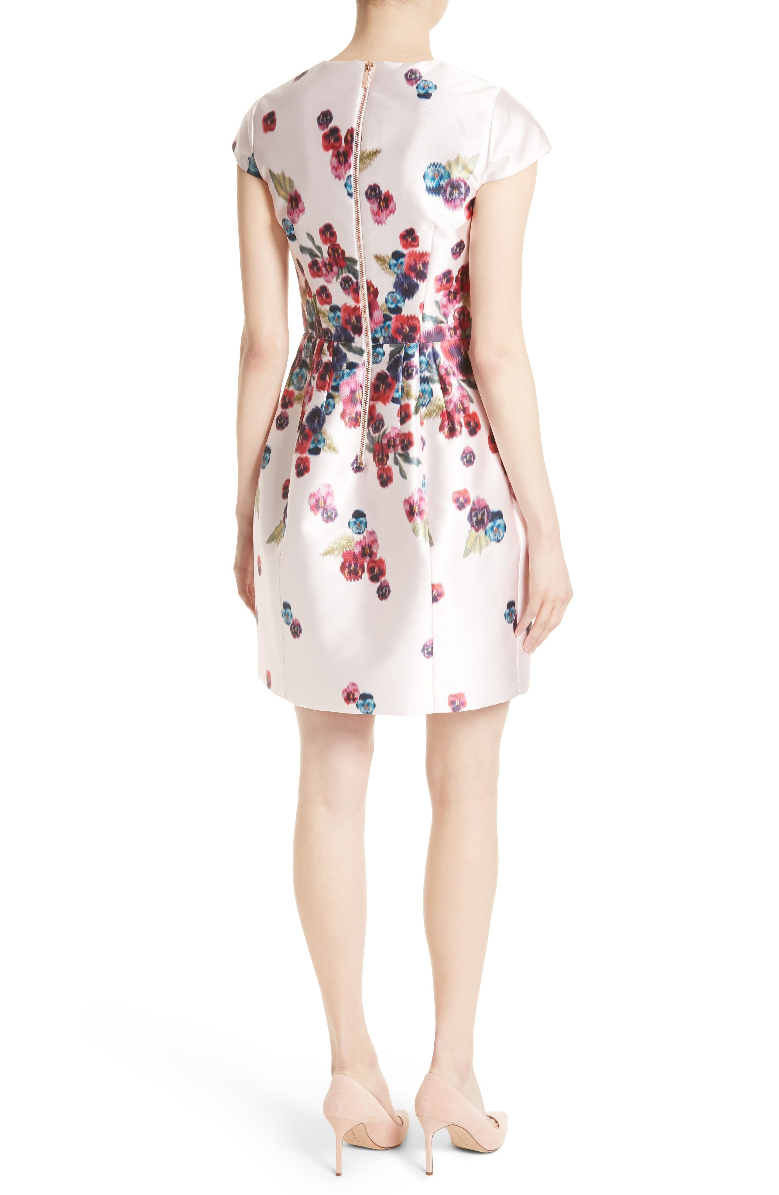 Ibia Floral Print Sheath Dress,                             Alternate thumbnail 2, color,                             Baby Pink